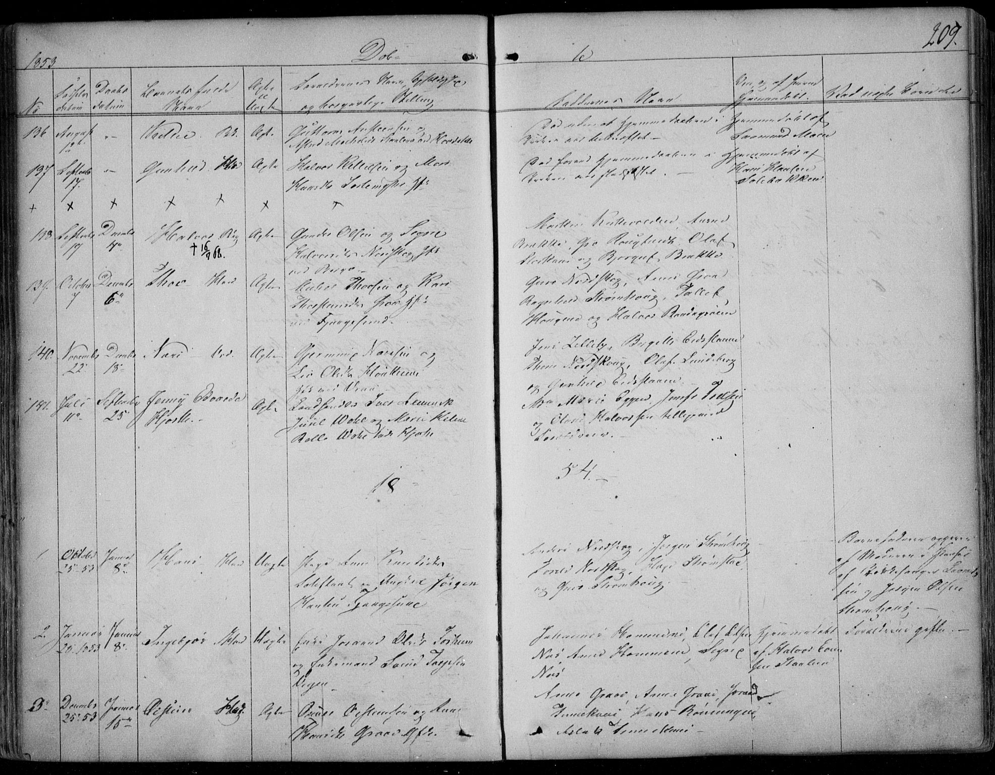 SAKO, Kviteseid kirkebøker, F/Fa/L0006: Ministerialbok nr. I 6, 1836-1858, s. 209
