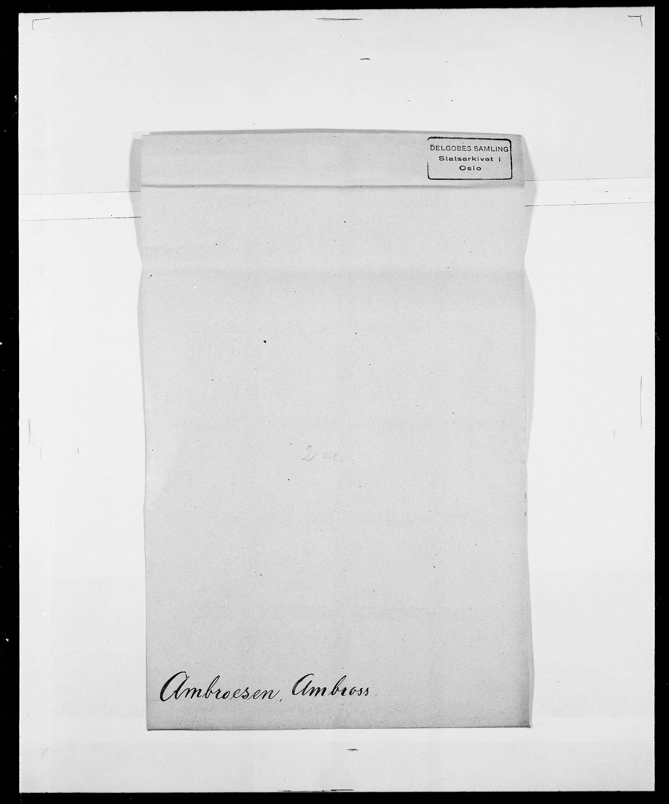 SAO, Delgobe, Charles Antoine - samling, D/Da/L0001: Aabye - Angerman, s. 524