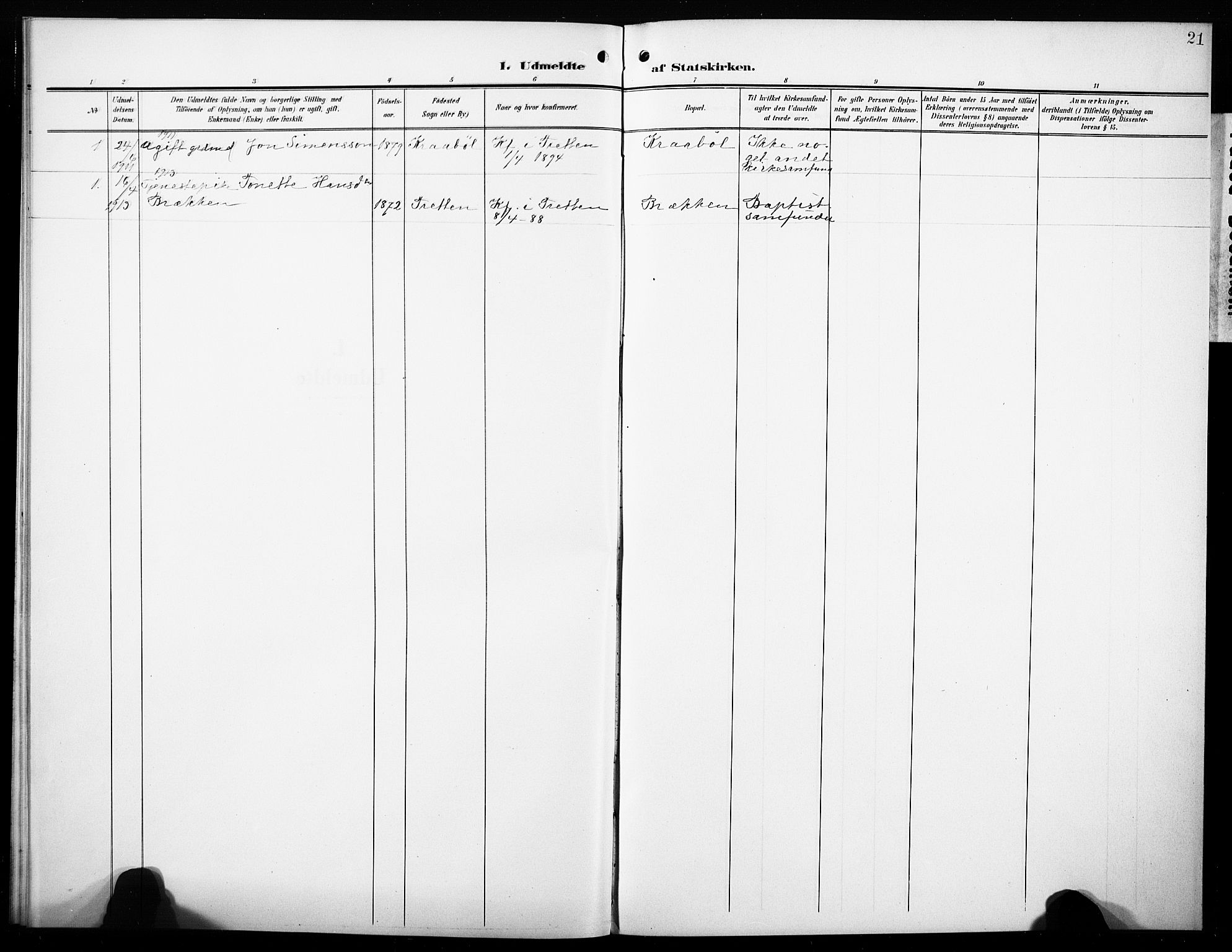 SAH, Øyer prestekontor, Ministerialbok nr. 10, 1906-1919, s. 21