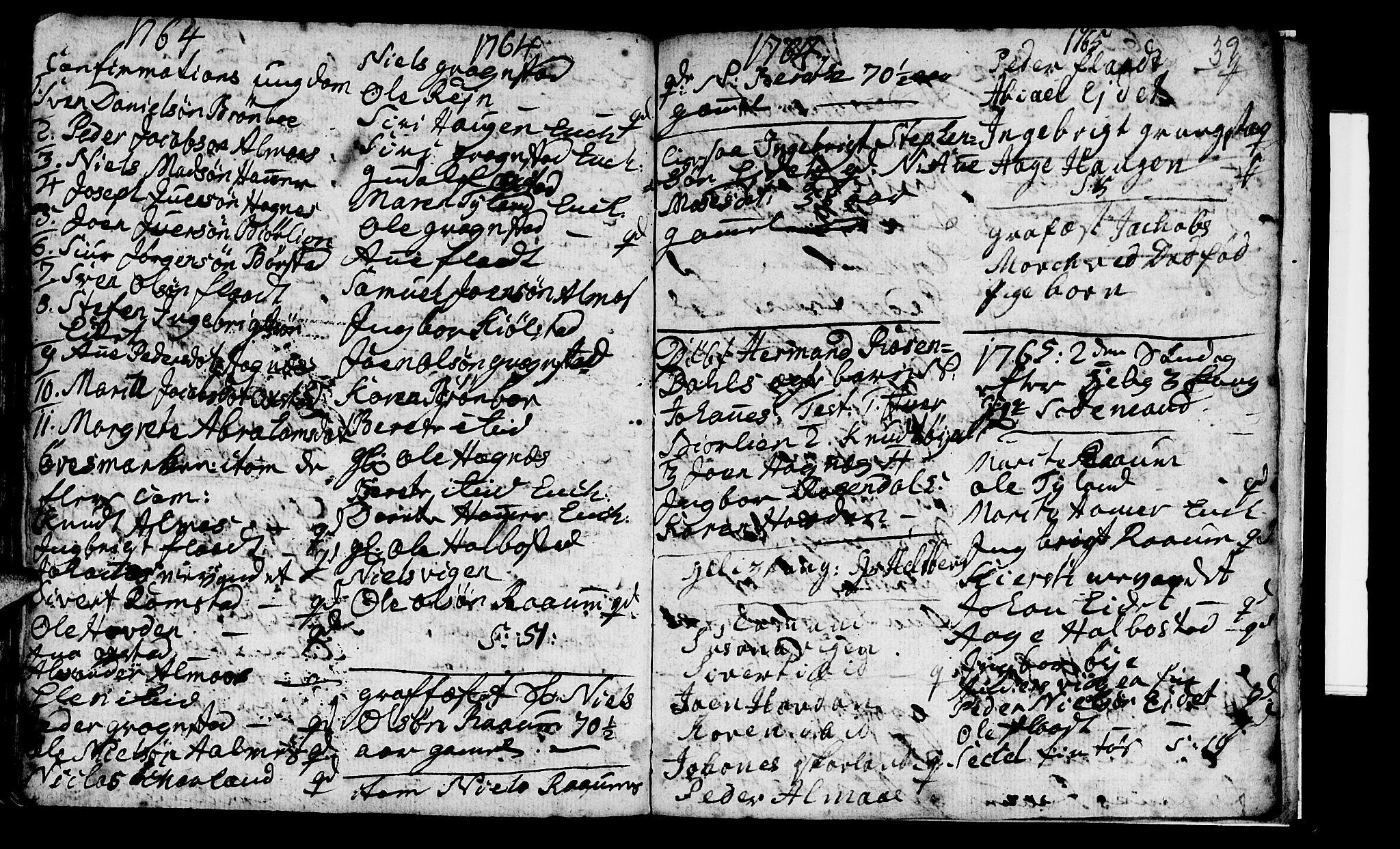 SAT, Ministerialprotokoller, klokkerbøker og fødselsregistre - Nord-Trøndelag, 765/L0561: Ministerialbok nr. 765A02, 1758-1765, s. 39