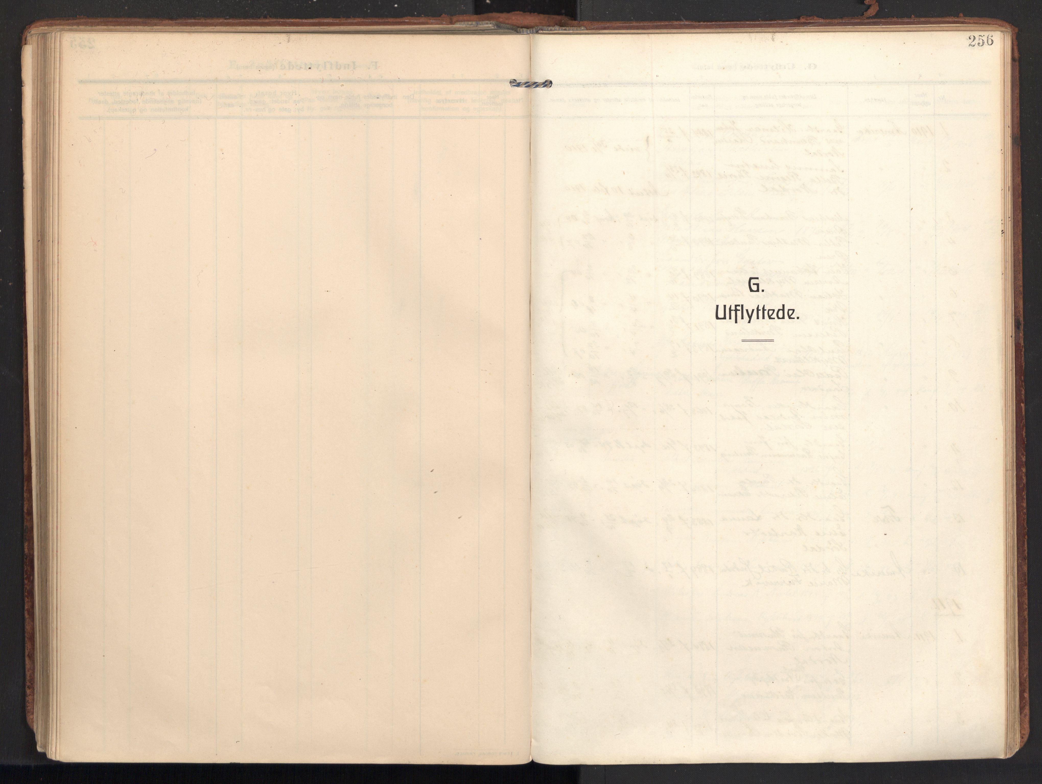 SAT, Ministerialprotokoller, klokkerbøker og fødselsregistre - Møre og Romsdal, 502/L0026: Ministerialbok nr. 502A04, 1909-1933, s. 256