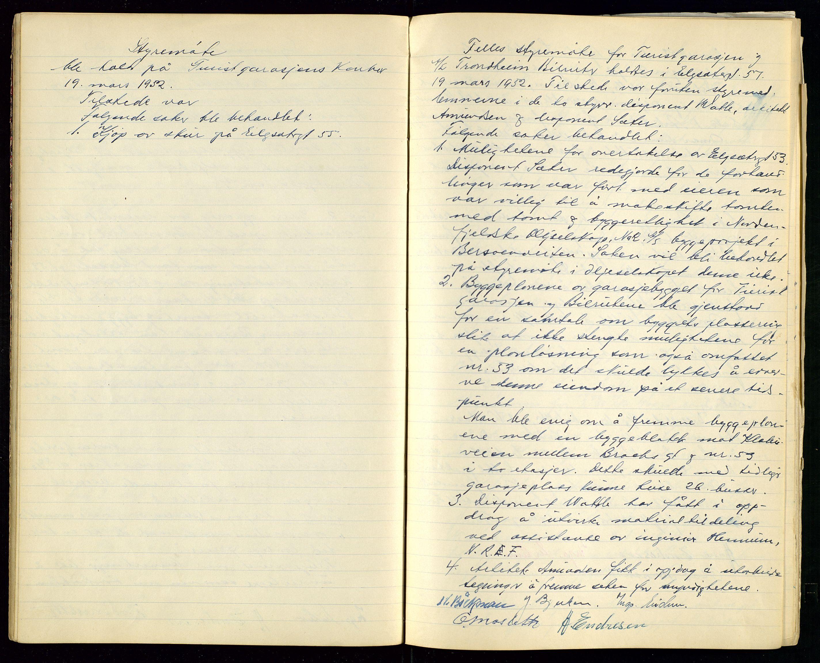 SAST, PA 1515 - Turistgarasjen A/S, A/L0001: Forhandlingsprotokoll, 1937-1958, s. 25
