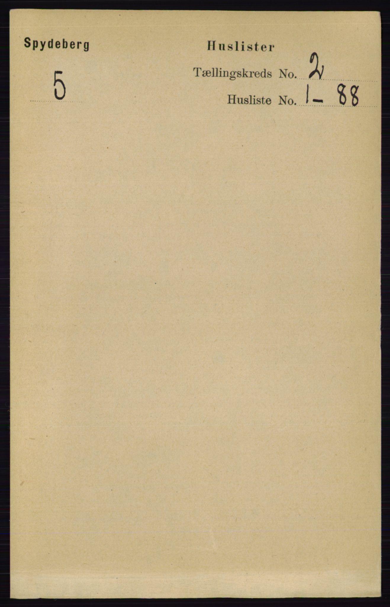 RA, Folketelling 1891 for 0123 Spydeberg herred, 1891, s. 605