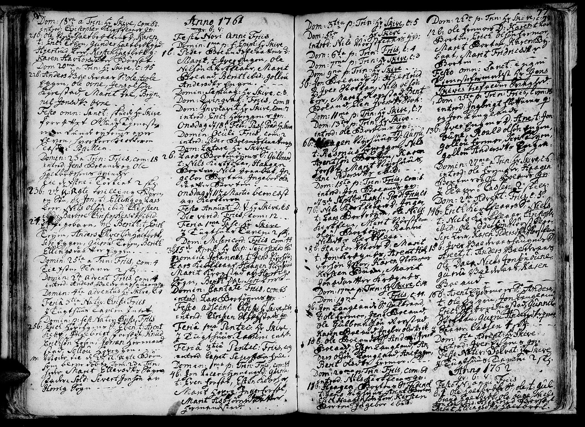 SAT, Ministerialprotokoller, klokkerbøker og fødselsregistre - Sør-Trøndelag, 691/L1058: Ministerialbok nr. 691A01 /2, 1740-1767, s. 77