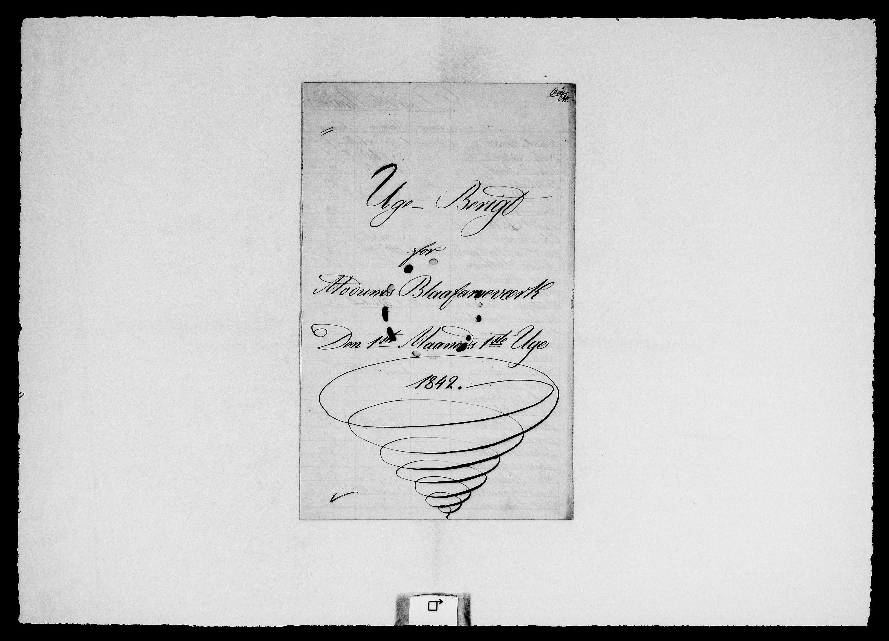 RA, Modums Blaafarveværk, G/Ge/L0325, 1842-1848, s. 2