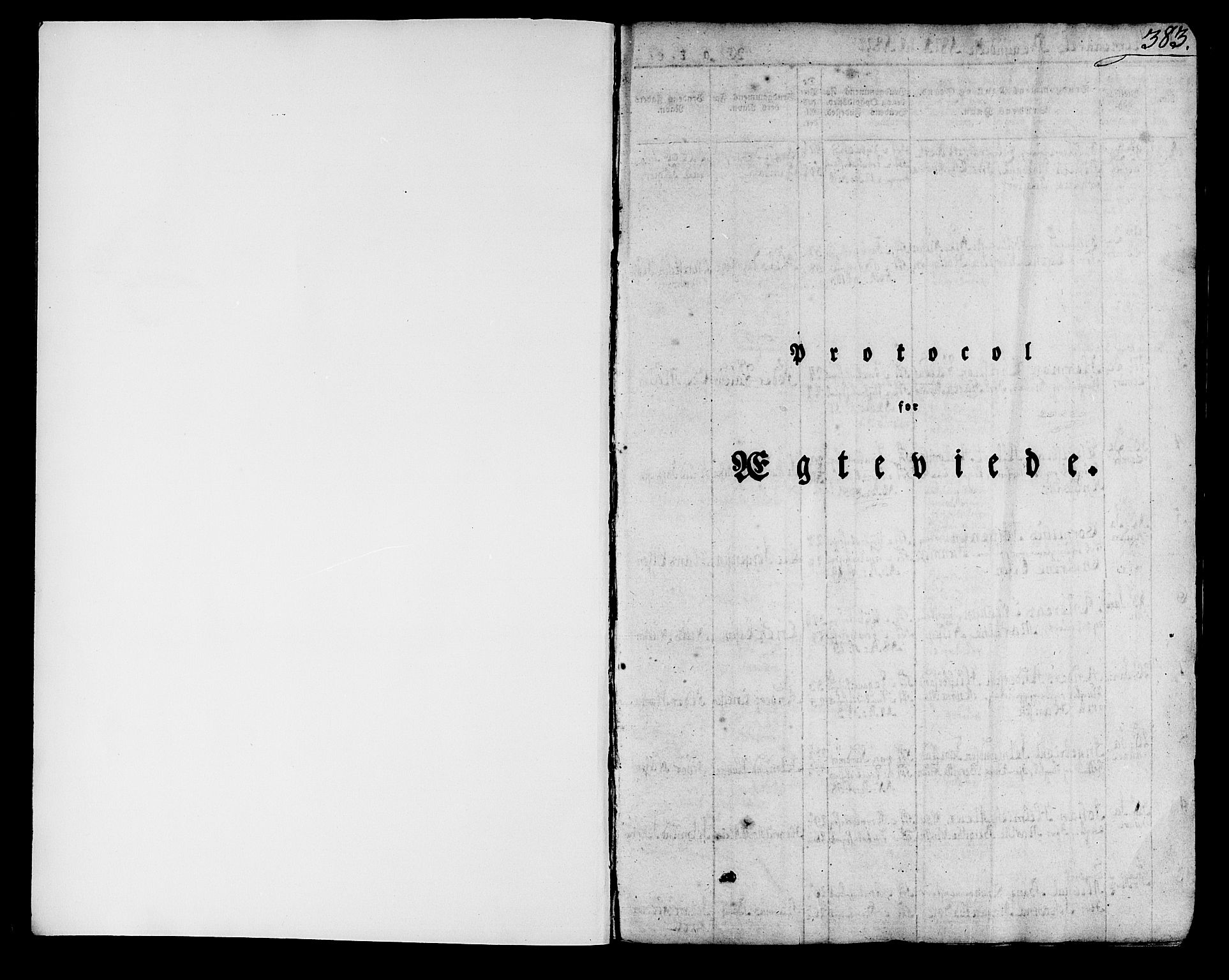 SAB, Domkirken sokneprestembete, H/Haa/L0012: Ministerialbok nr. A 12, 1821-1840, s. 383