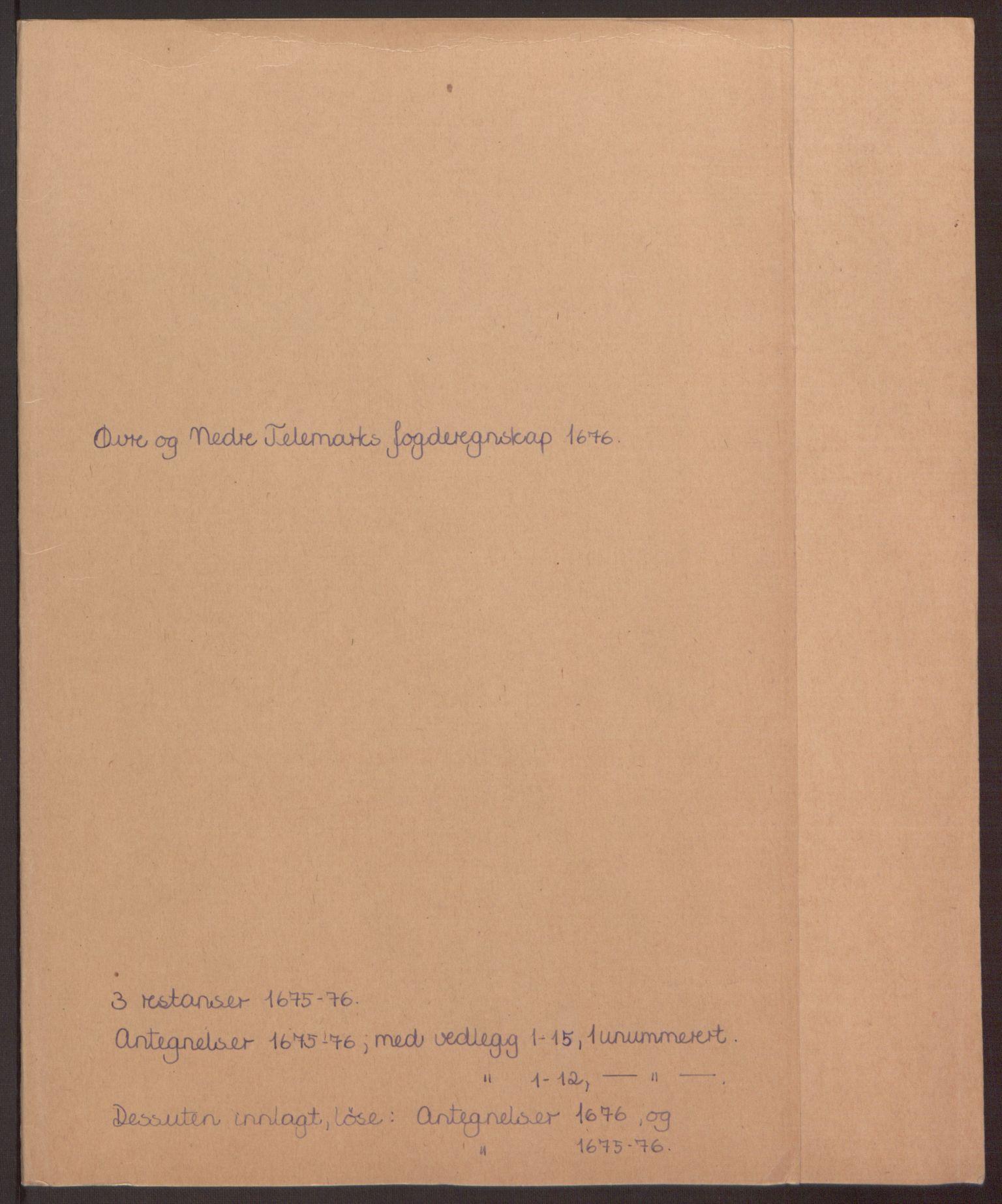 RA, Rentekammeret inntil 1814, Reviderte regnskaper, Fogderegnskap, R35/L2066: Fogderegnskap Øvre og Nedre Telemark, 1676, s. 228