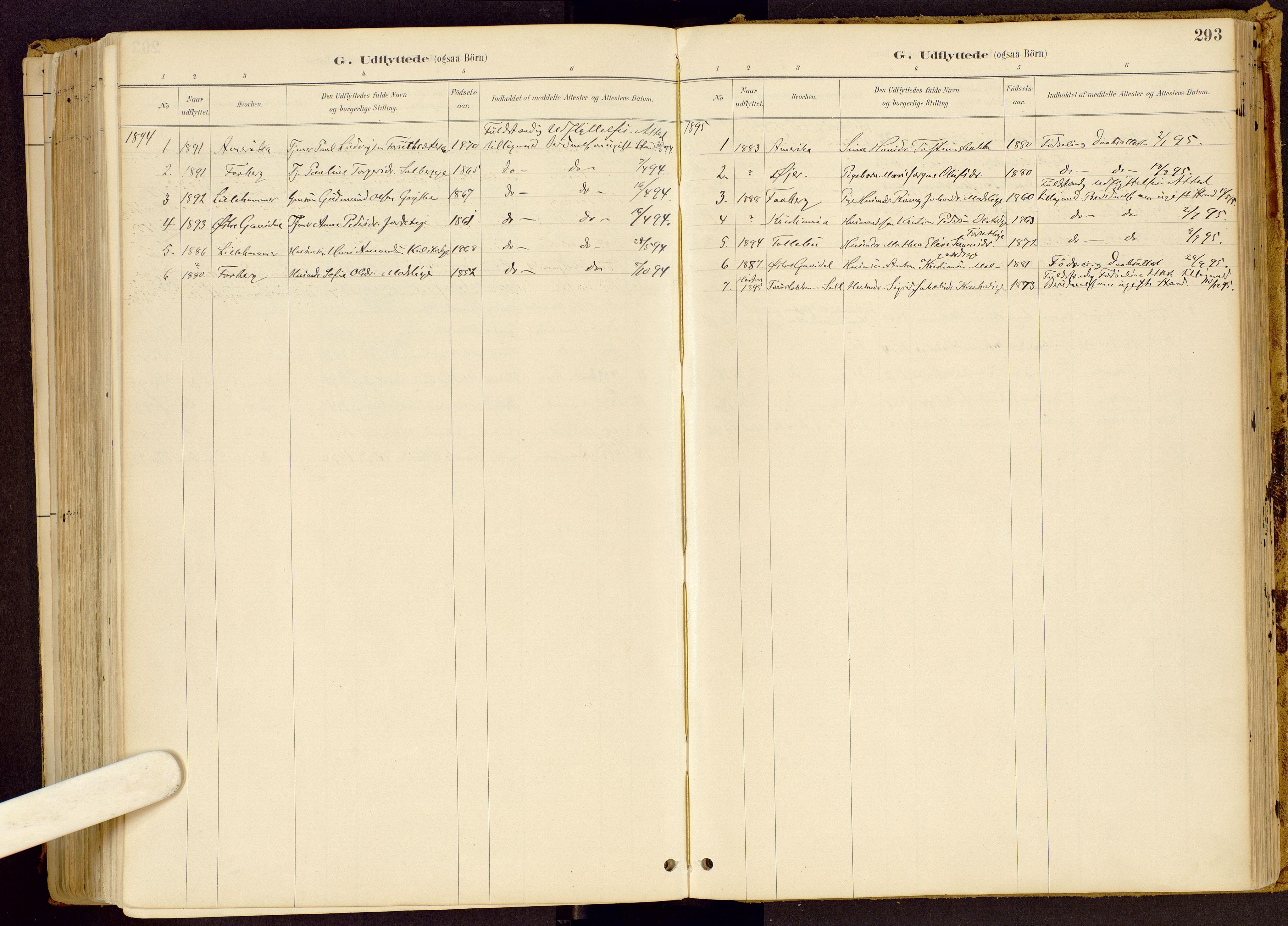 SAH, Vestre Gausdal prestekontor, Ministerialbok nr. 1, 1887-1914, s. 293