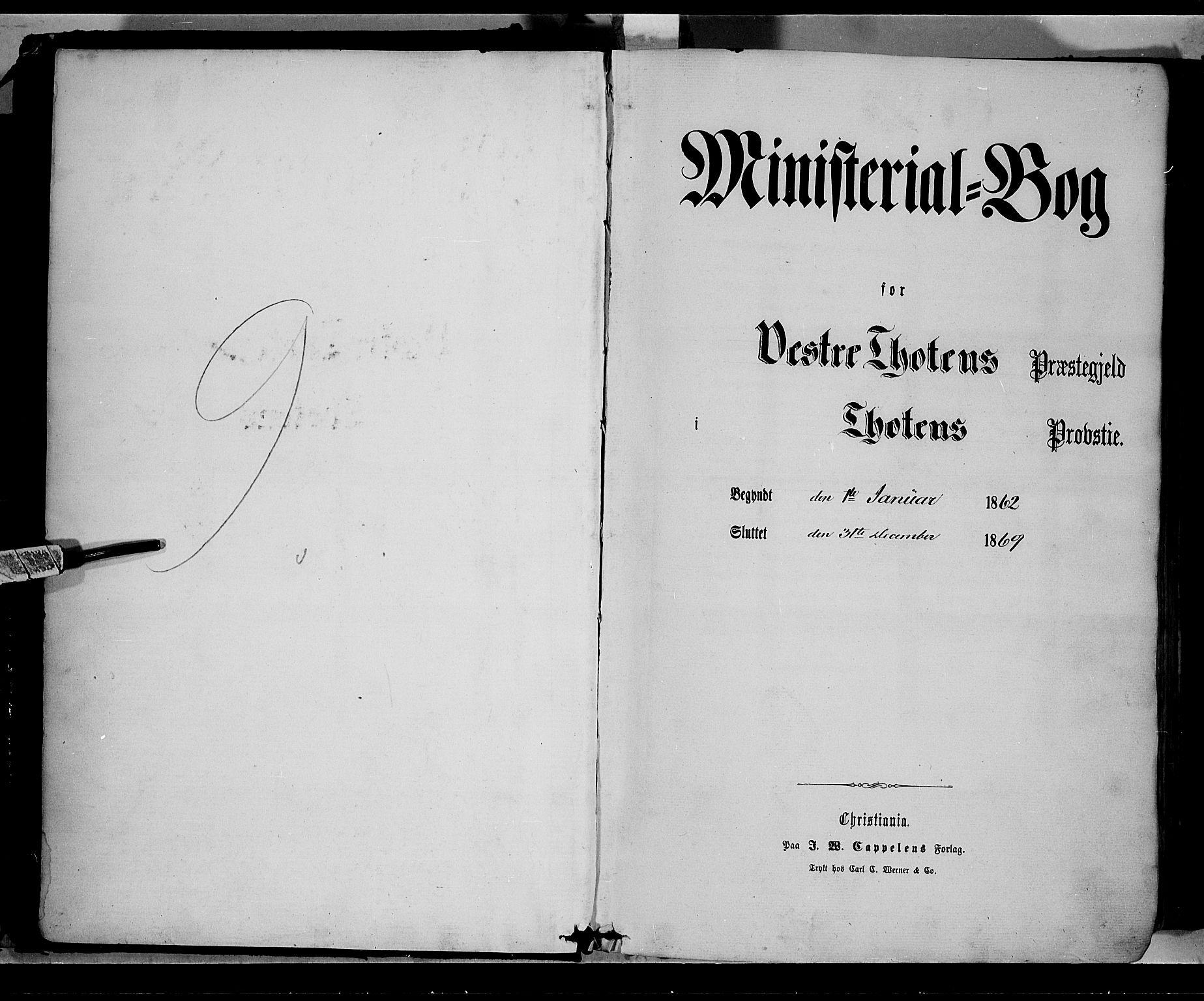 SAH, Vestre Toten prestekontor, H/Ha/Haa/L0007: Ministerialbok nr. 7, 1862-1869