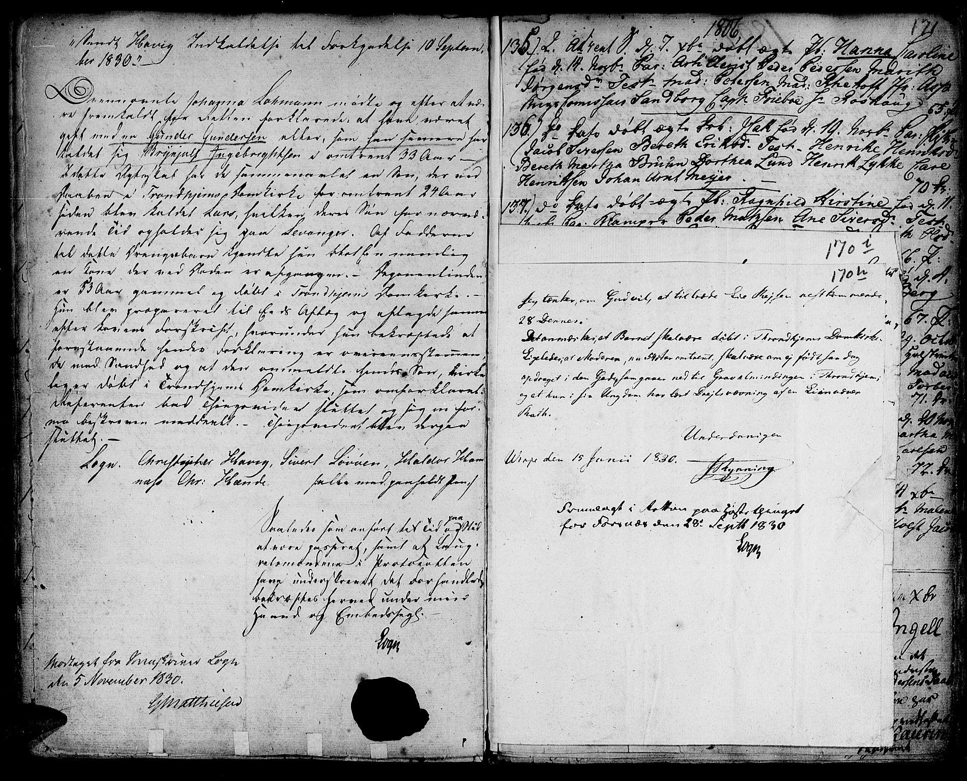 SAT, Ministerialprotokoller, klokkerbøker og fødselsregistre - Sør-Trøndelag, 601/L0039: Ministerialbok nr. 601A07, 1770-1819, s. 170h