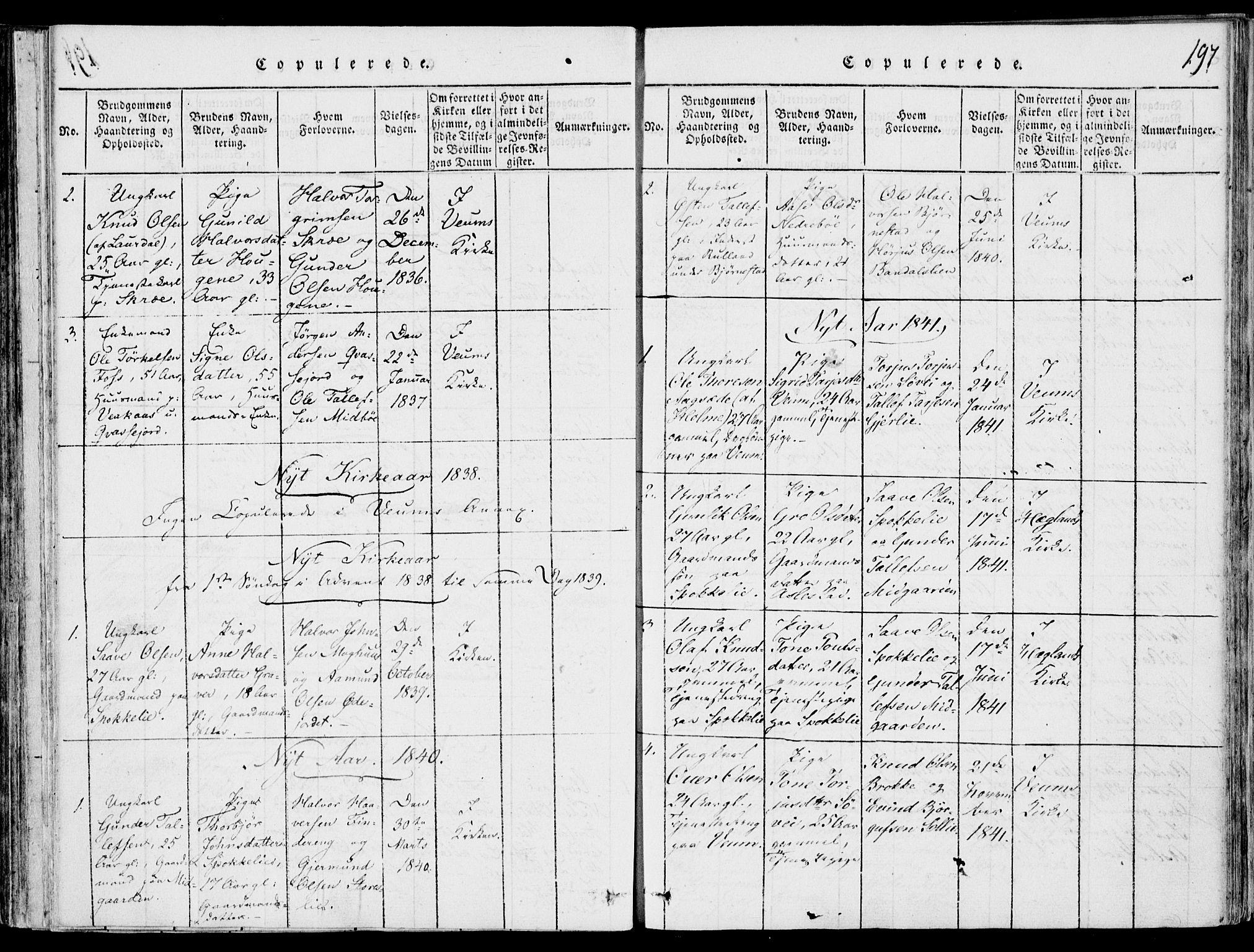 SAKO, Fyresdal kirkebøker, F/Fb/L0001: Ministerialbok nr. II 1, 1815-1854, s. 197