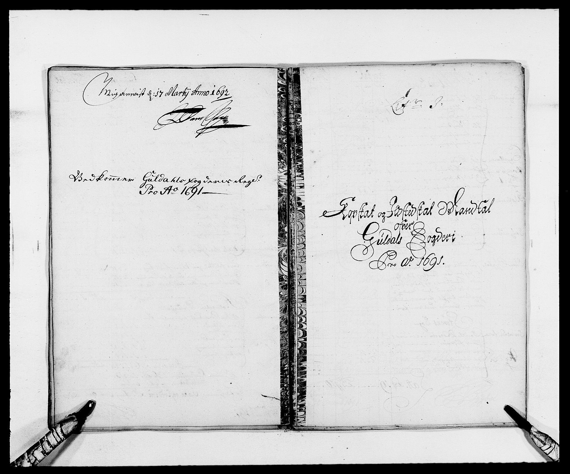 RA, Rentekammeret inntil 1814, Reviderte regnskaper, Fogderegnskap, R59/L3941: Fogderegnskap Gauldal, 1691, s. 111