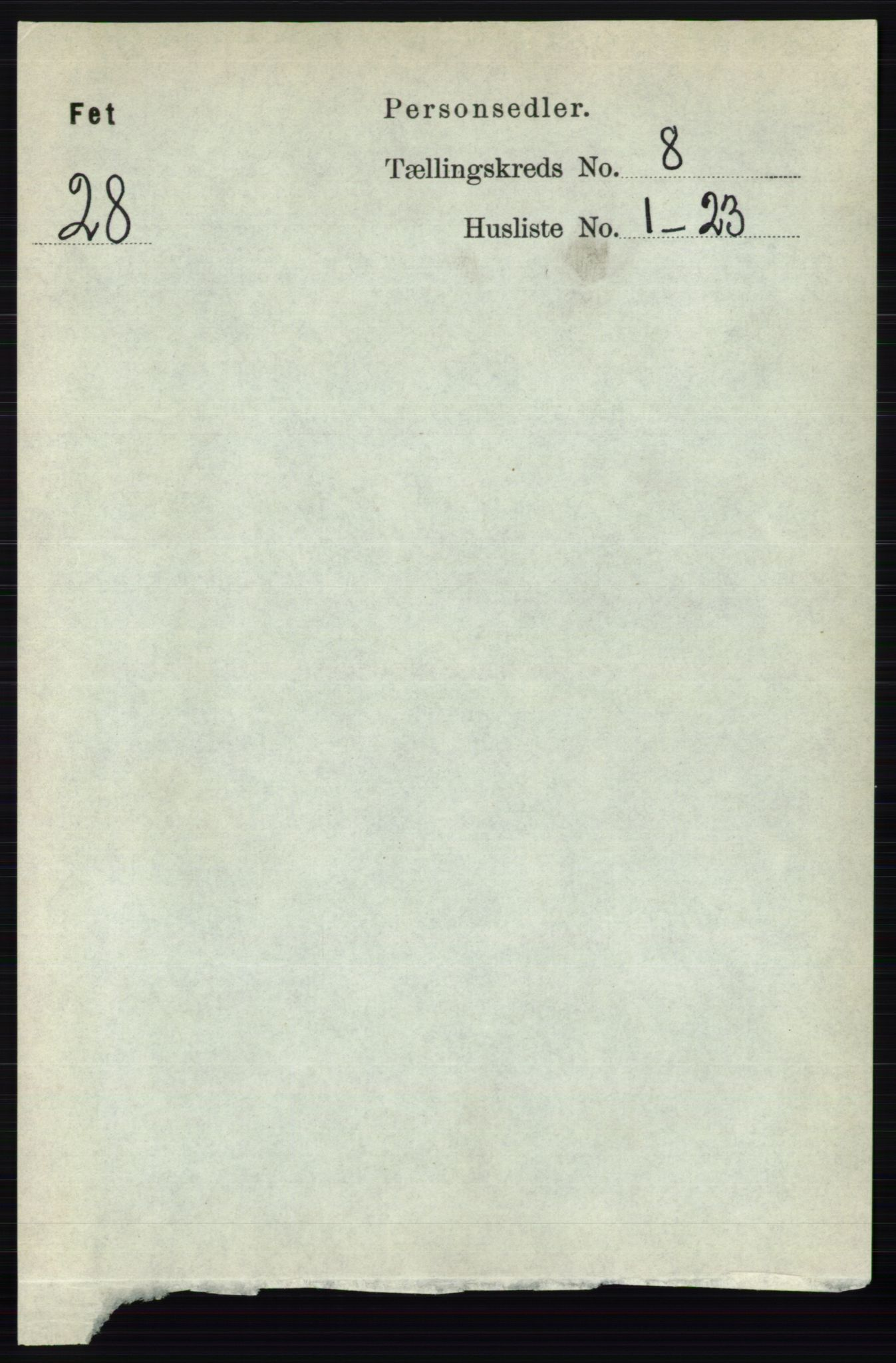 RA, Folketelling 1891 for 0227 Fet herred, 1891, s. 3043
