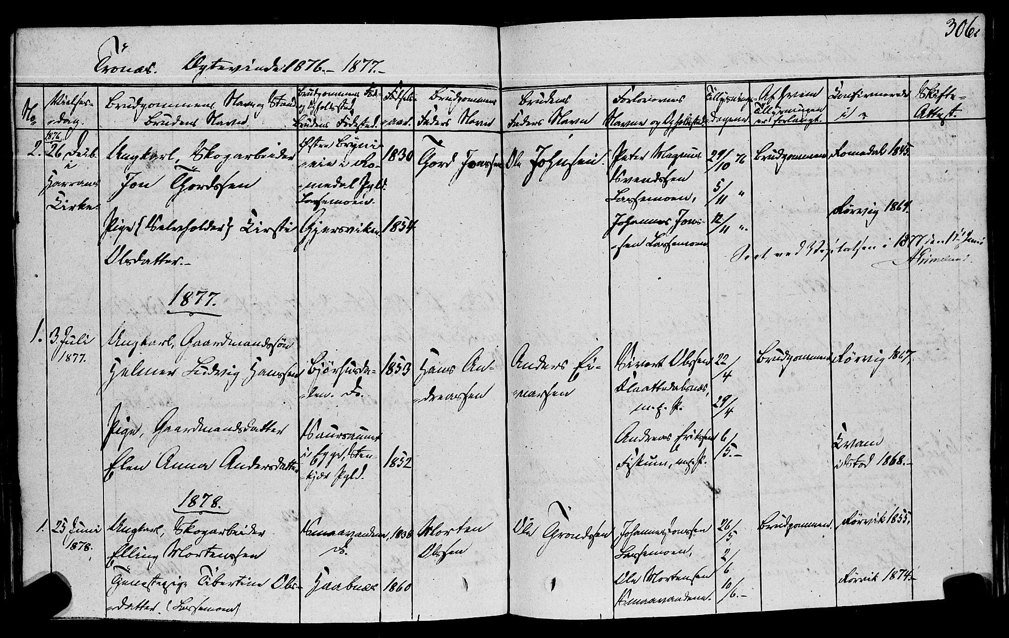 SAT, Ministerialprotokoller, klokkerbøker og fødselsregistre - Nord-Trøndelag, 762/L0538: Ministerialbok nr. 762A02 /2, 1833-1879, s. 306
