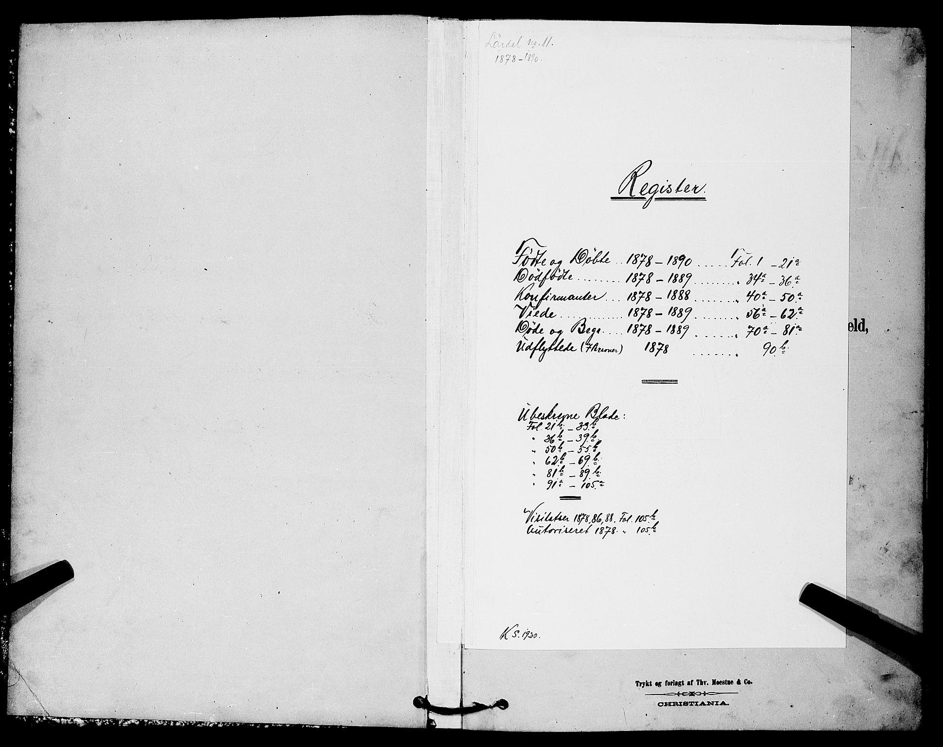 SAKO, Lårdal kirkebøker, G/Gc/L0003: Klokkerbok nr. III 3, 1878-1890