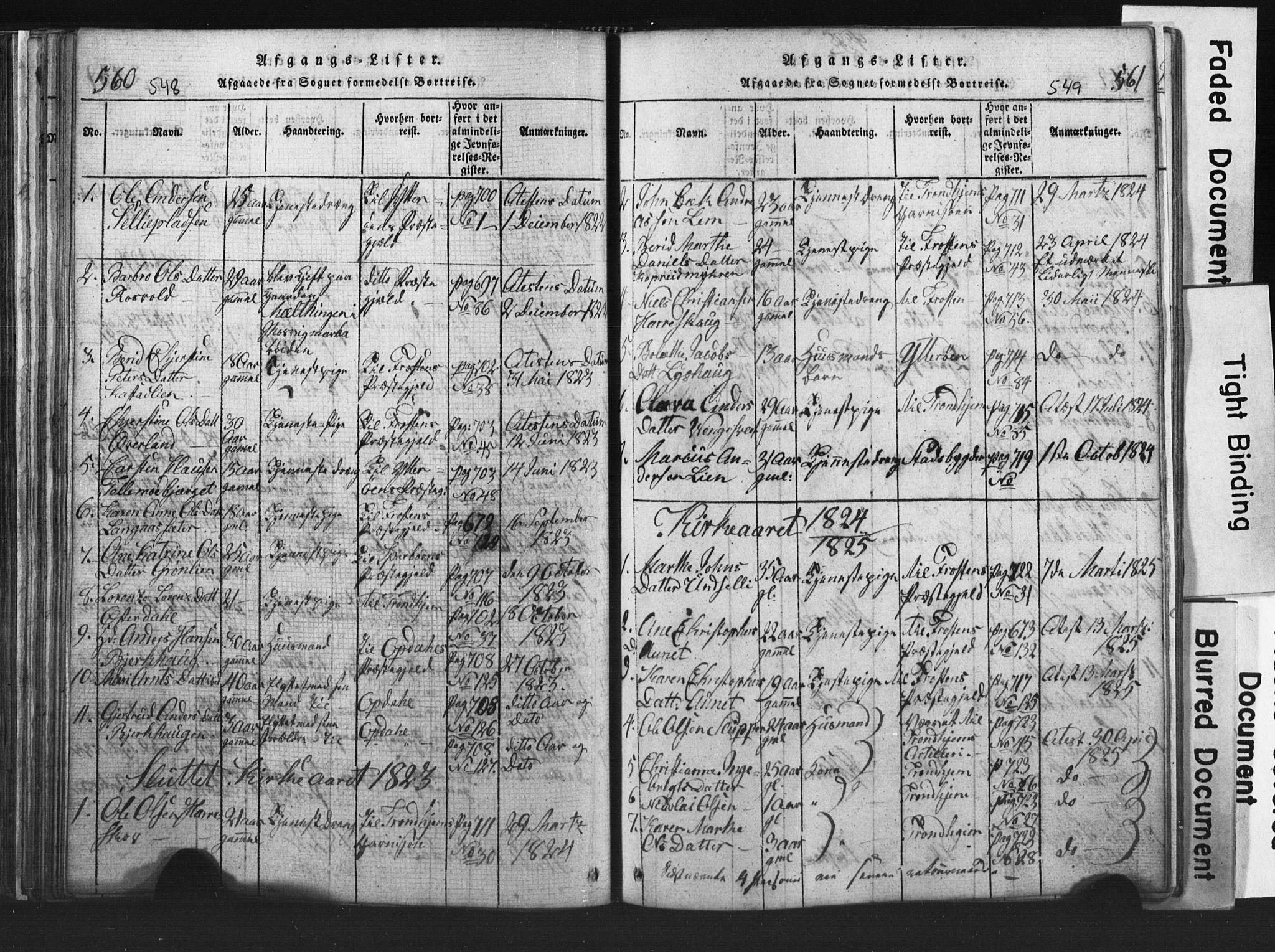 SAT, Ministerialprotokoller, klokkerbøker og fødselsregistre - Nord-Trøndelag, 701/L0017: Klokkerbok nr. 701C01, 1817-1825, s. 548-549