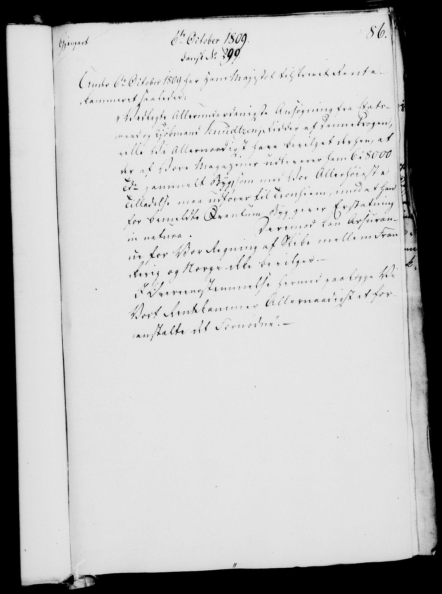 RA, Rentekammeret, Kammerkanselliet, G/Gf/Gfa/L0091: Norsk relasjons- og resolusjonsprotokoll (merket RK 52.91), 1809, s. 348