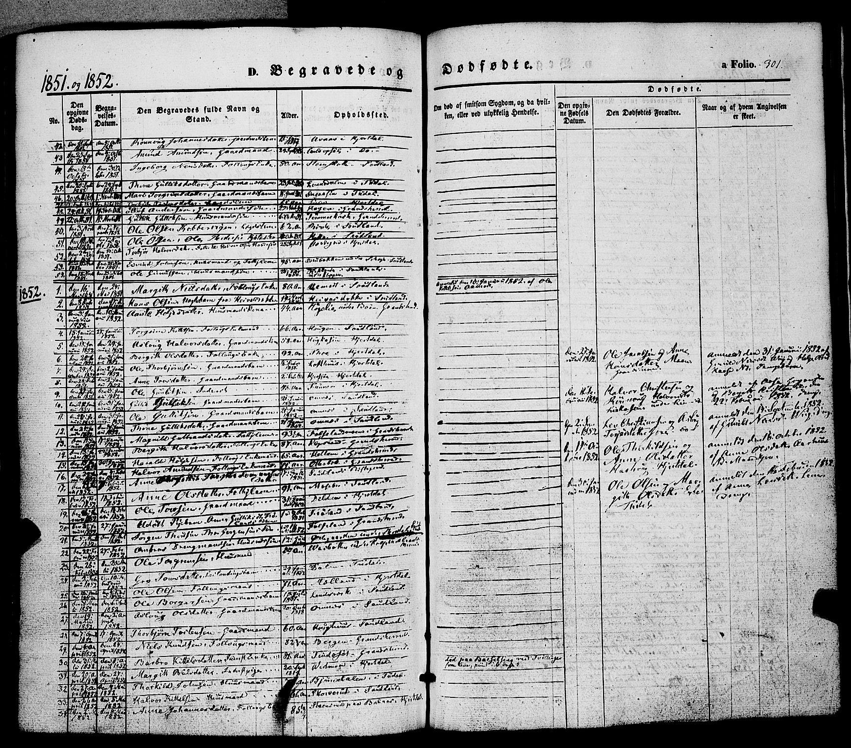 SAKO, Hjartdal kirkebøker, F/Fa/L0008: Ministerialbok nr. I 8, 1844-1859, s. 301