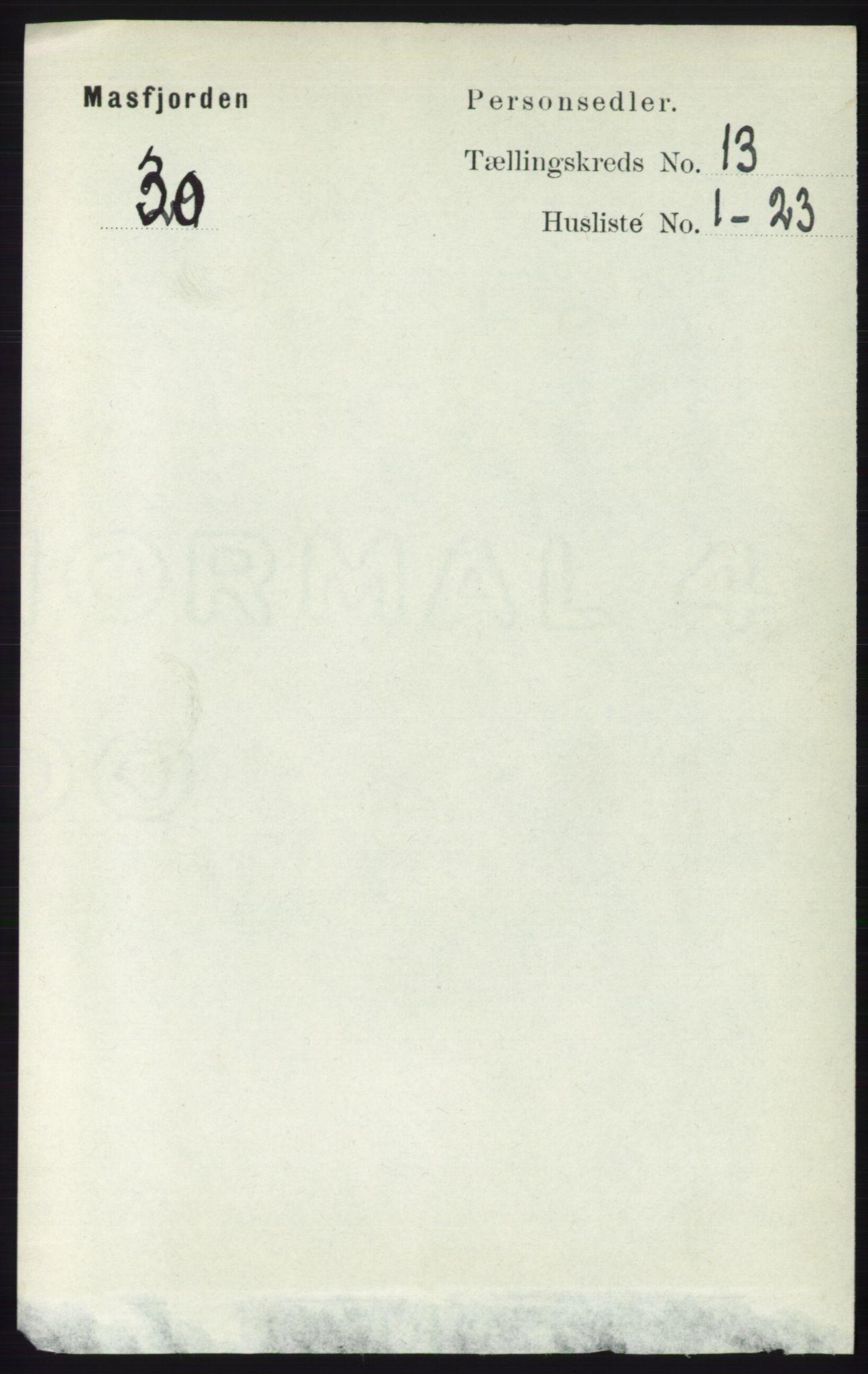RA, Folketelling 1891 for 1266 Masfjorden herred, 1891, s. 2626