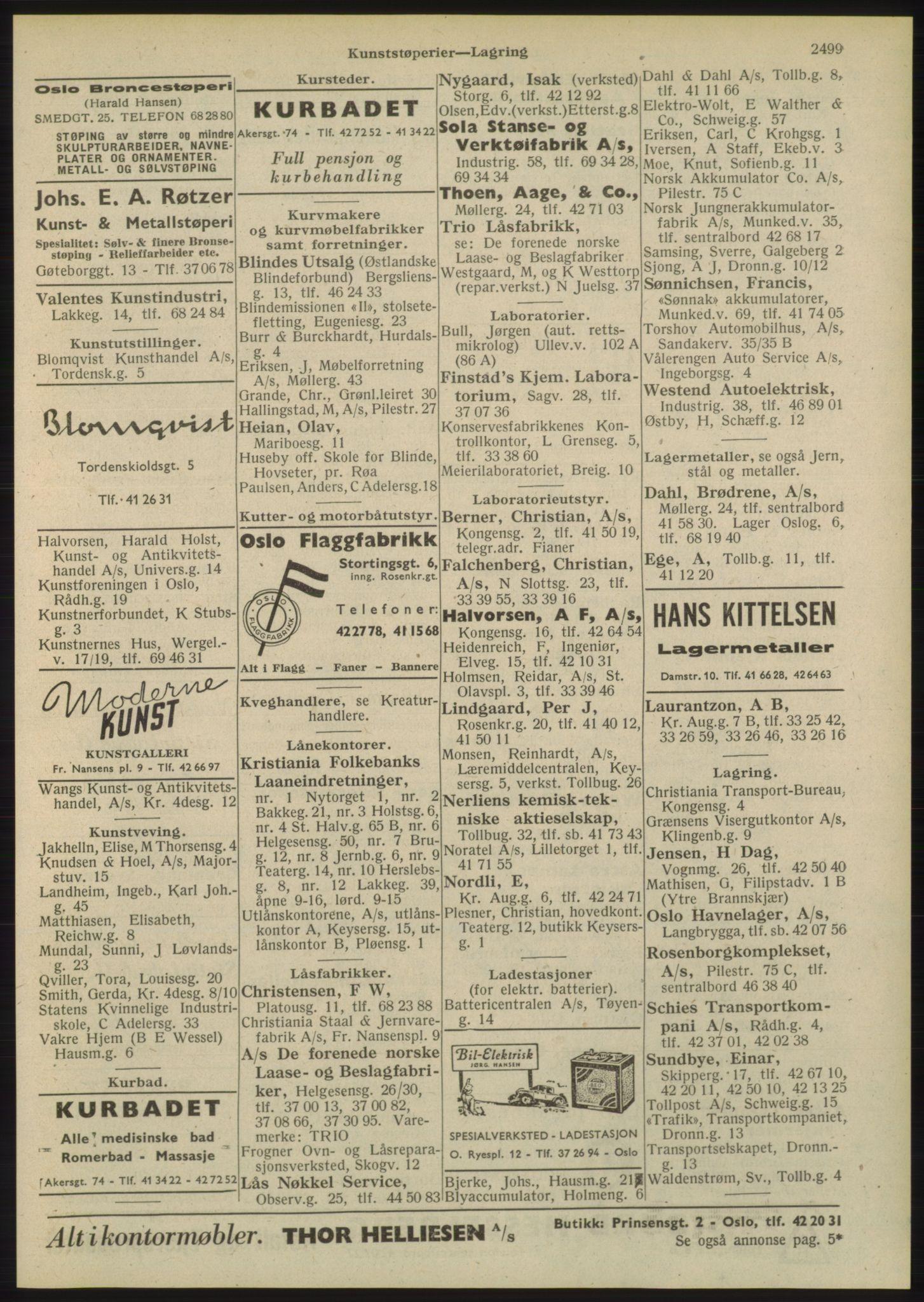 RA, Oslo adressebok (publikasjon)*, 1948, s. 2499