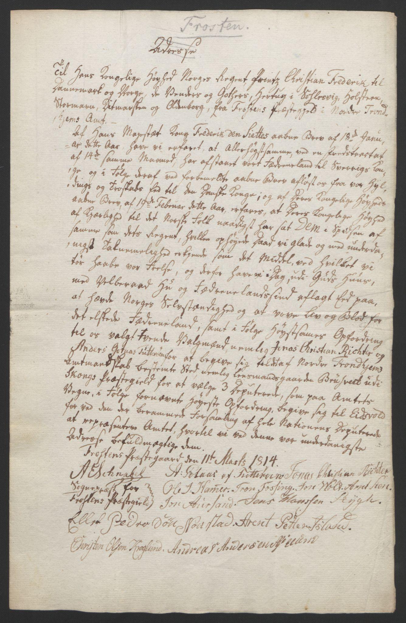 RA, Statsrådssekretariatet, D/Db/L0008: Fullmakter for Eidsvollsrepresentantene i 1814. , 1814, s. 469