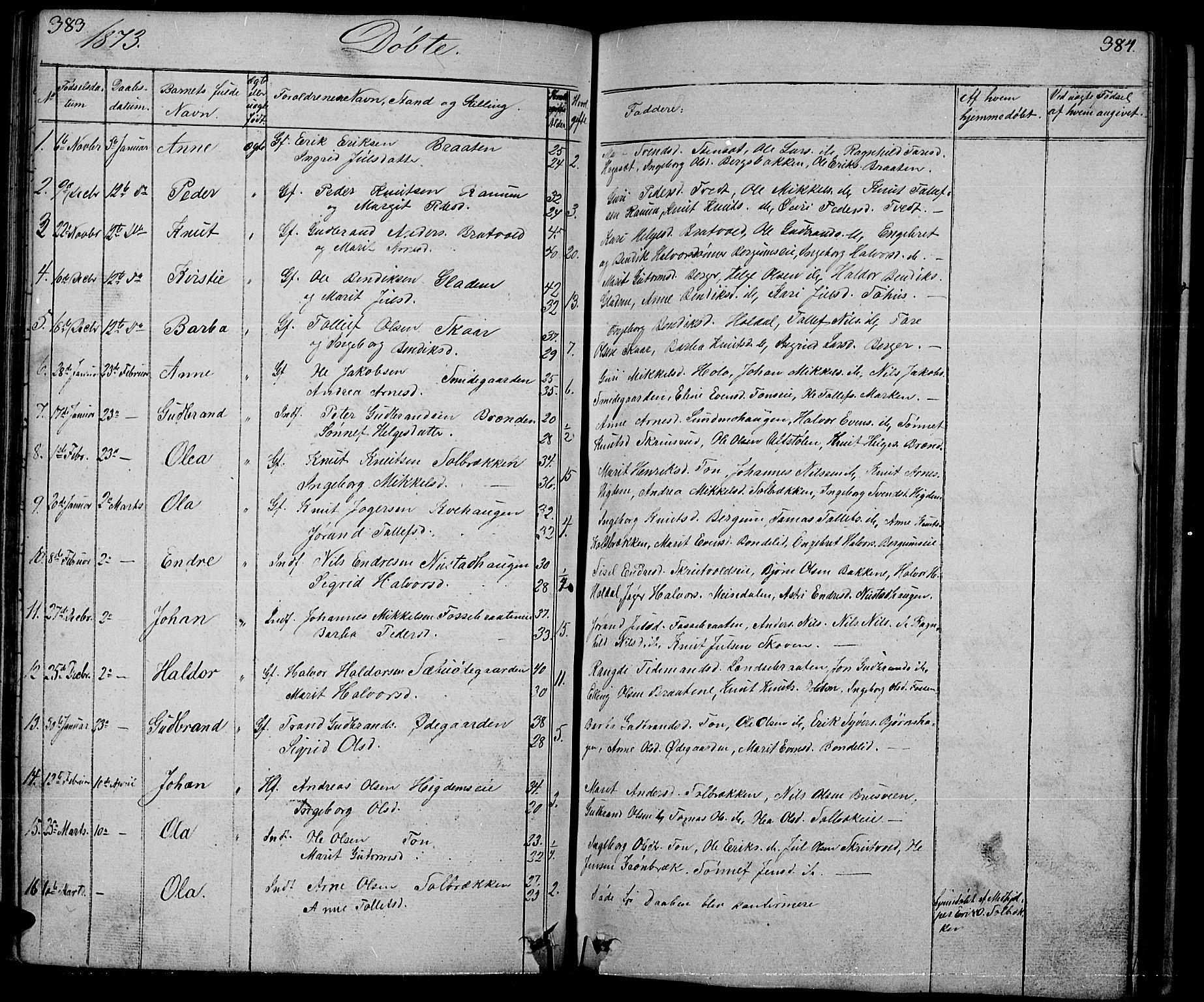 SAH, Nord-Aurdal prestekontor, Klokkerbok nr. 1, 1834-1887, s. 383-384
