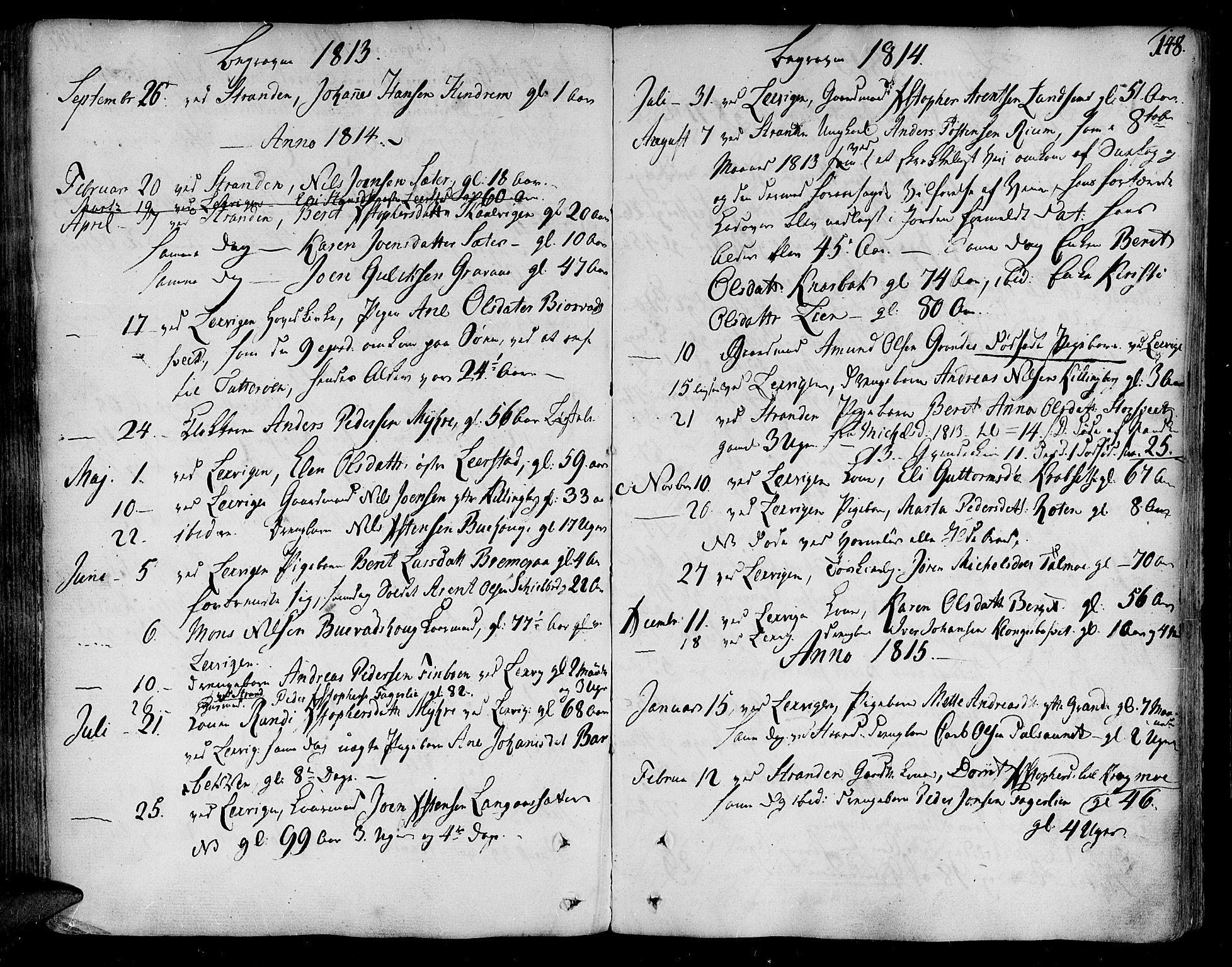 SAT, Ministerialprotokoller, klokkerbøker og fødselsregistre - Nord-Trøndelag, 701/L0004: Ministerialbok nr. 701A04, 1783-1816, s. 148