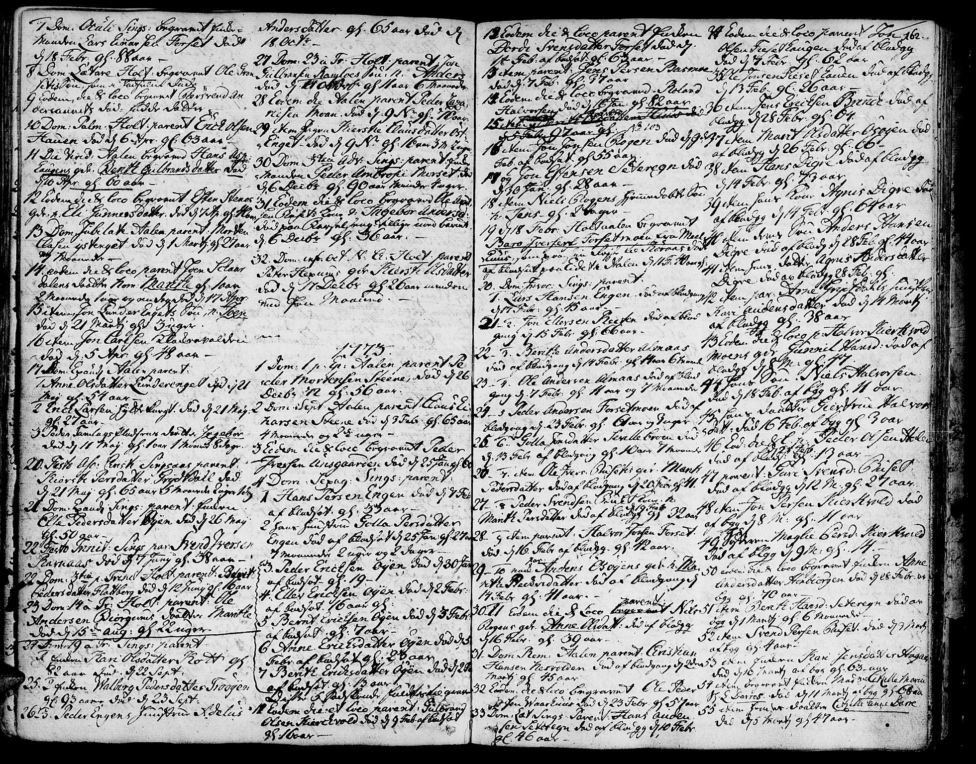 SAT, Ministerialprotokoller, klokkerbøker og fødselsregistre - Sør-Trøndelag, 685/L0952: Ministerialbok nr. 685A01, 1745-1804, s. 162