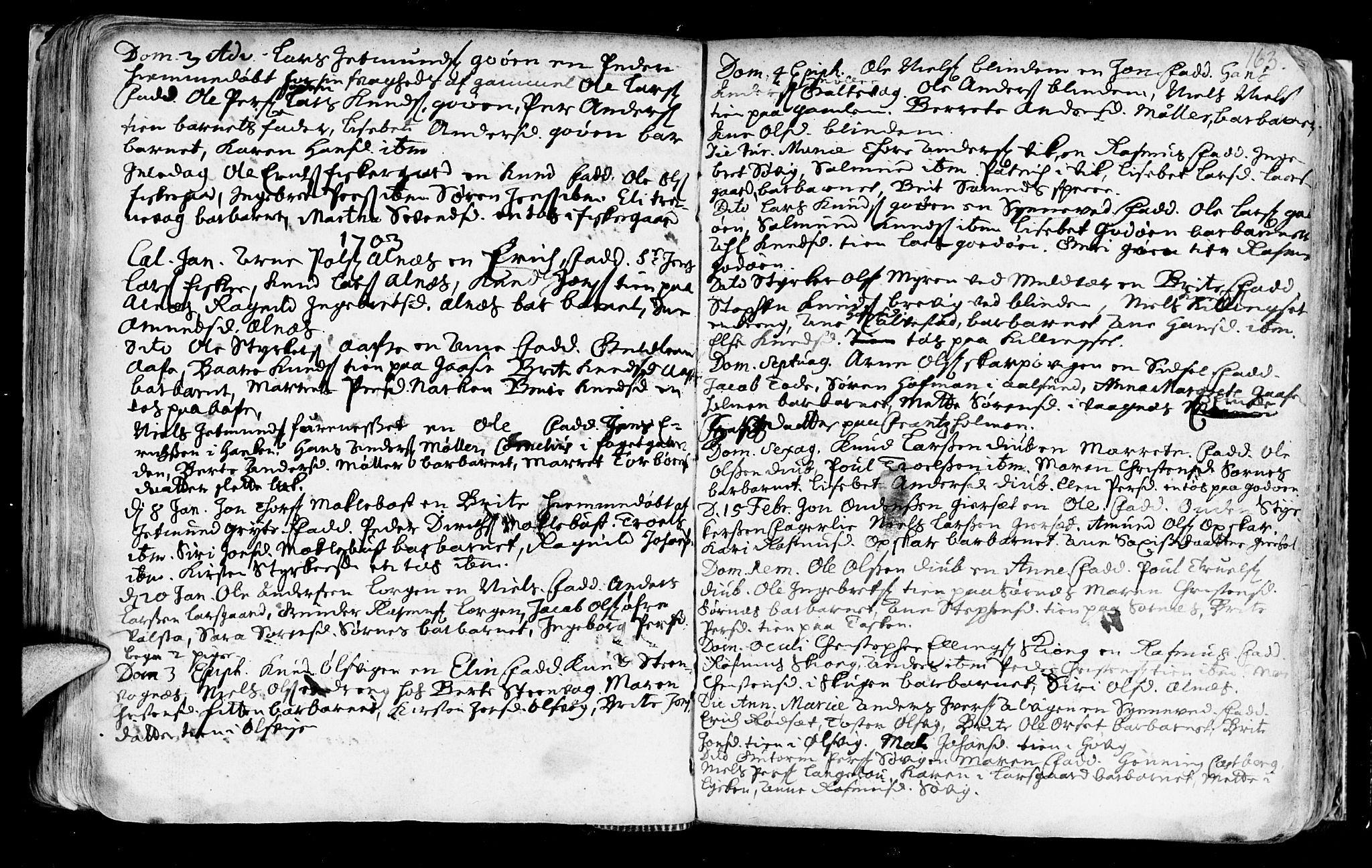 SAT, Ministerialprotokoller, klokkerbøker og fødselsregistre - Møre og Romsdal, 528/L0390: Ministerialbok nr. 528A01, 1698-1739, s. 162-163