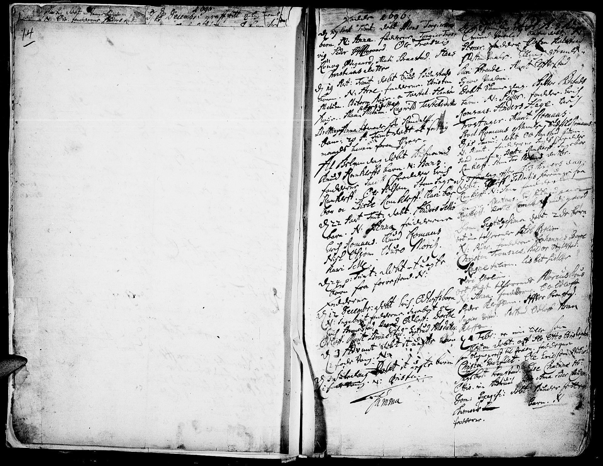 SAH, Ringebu prestekontor, Ministerialbok nr. 1, 1696-1733, s. 14-15