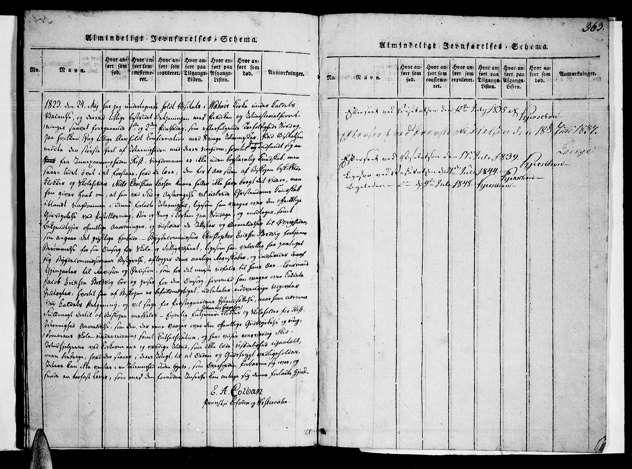 SAT, Ministerialprotokoller, klokkerbøker og fødselsregistre - Nordland, 807/L0120: Ministerialbok nr. 807A03, 1821-1848, s. 363