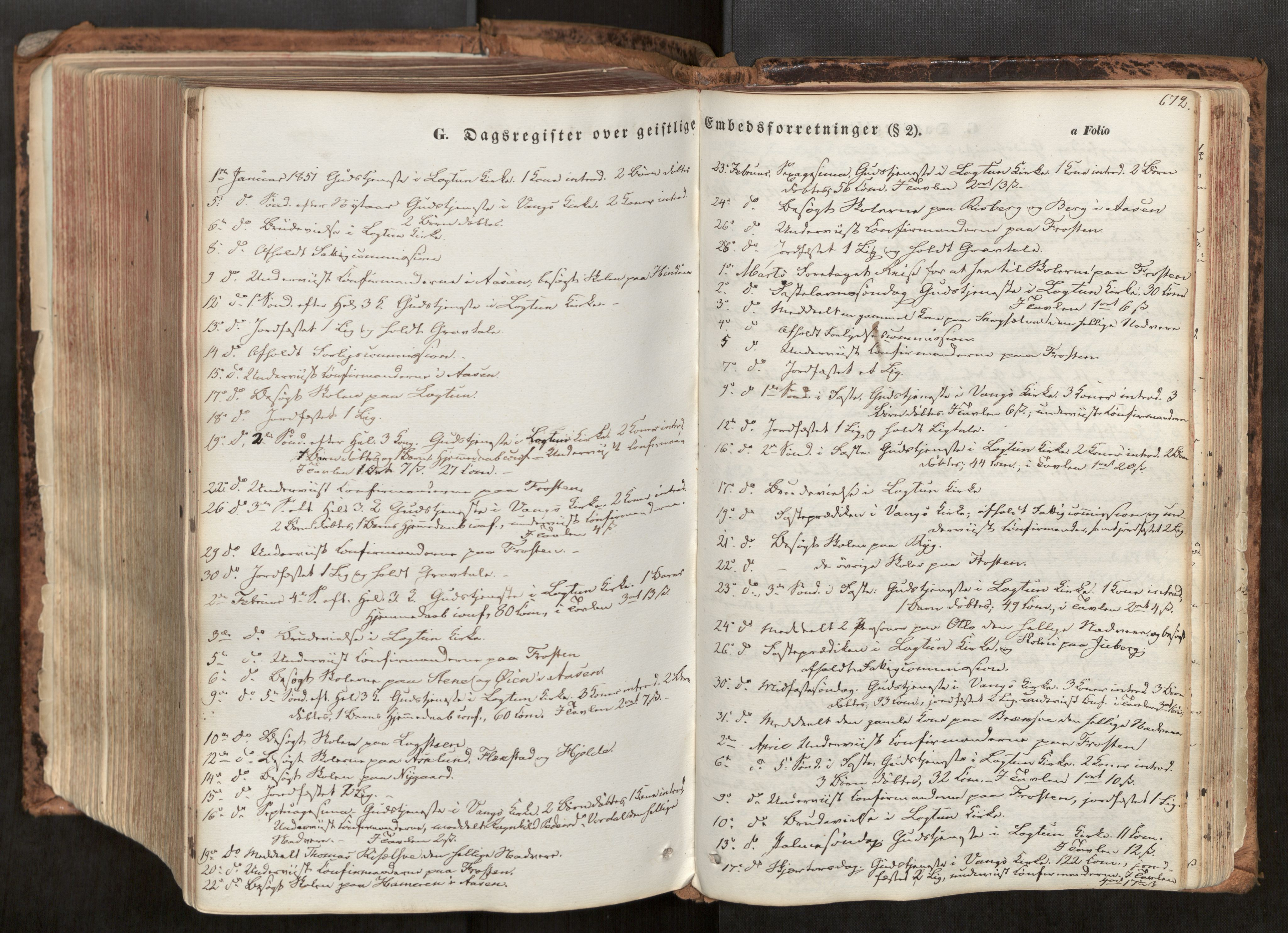 SAT, Ministerialprotokoller, klokkerbøker og fødselsregistre - Nord-Trøndelag, 713/L0116: Ministerialbok nr. 713A07, 1850-1877, s. 672