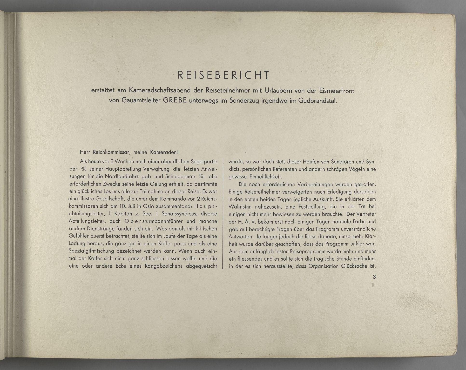 RA, Tyske arkiver, Reichskommissariat, Bildarchiv, U/L0071: Fotoalbum: Mit dem Reichskommissar nach Nordnorwegen und Finnland 10. bis 27. Juli 1942, 1942, s. 3