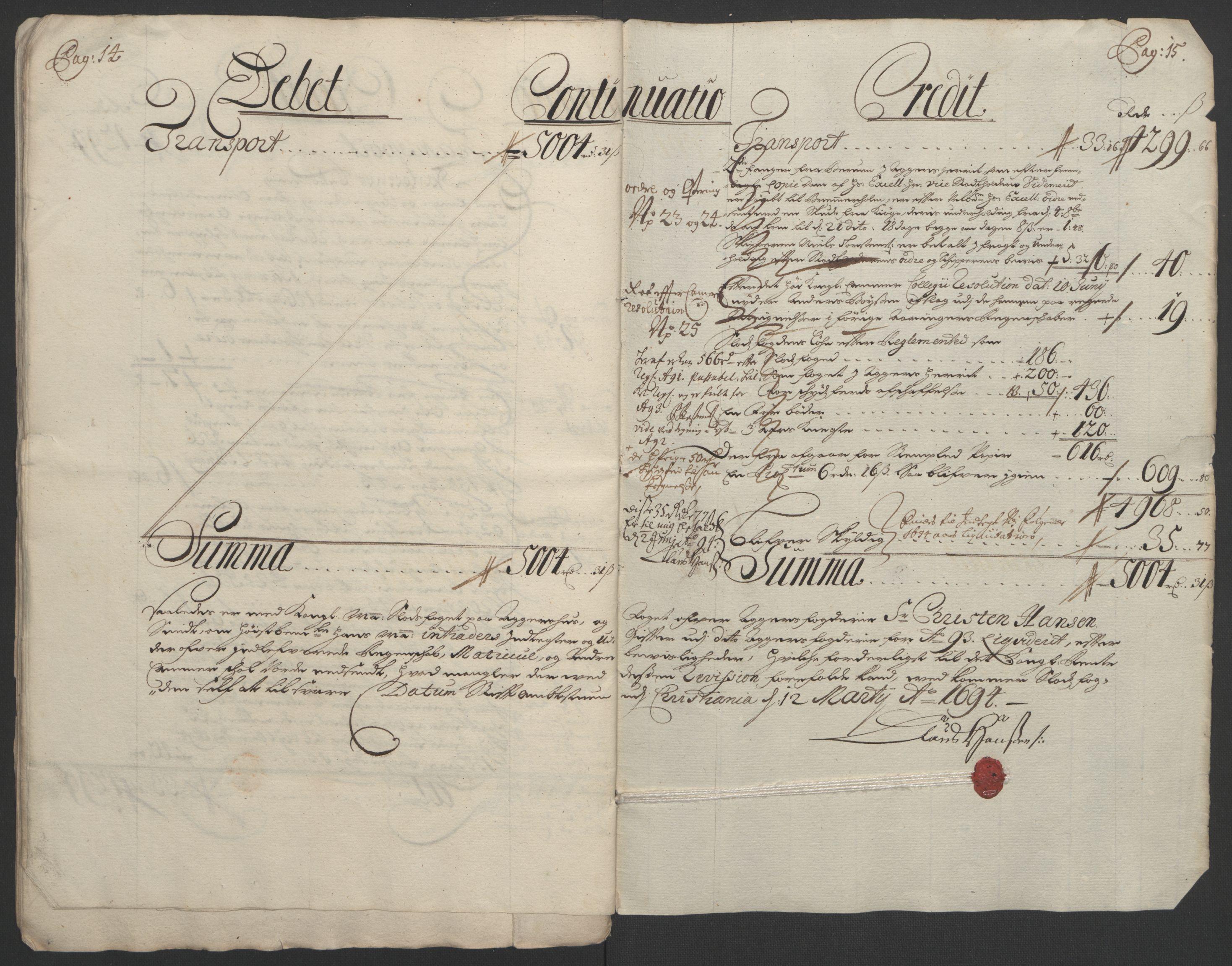 RA, Rentekammeret inntil 1814, Reviderte regnskaper, Fogderegnskap, R08/L0426: Fogderegnskap Aker, 1692-1693, s. 283