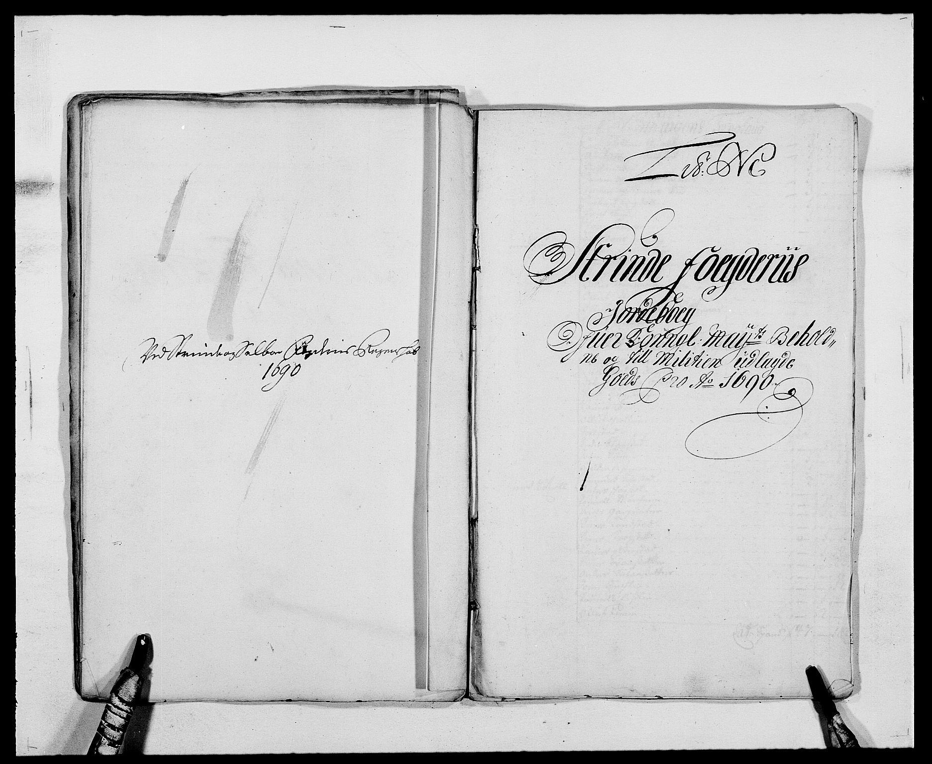 RA, Rentekammeret inntil 1814, Reviderte regnskaper, Fogderegnskap, R61/L4102: Fogderegnskap Strinda og Selbu, 1689-1690, s. 240