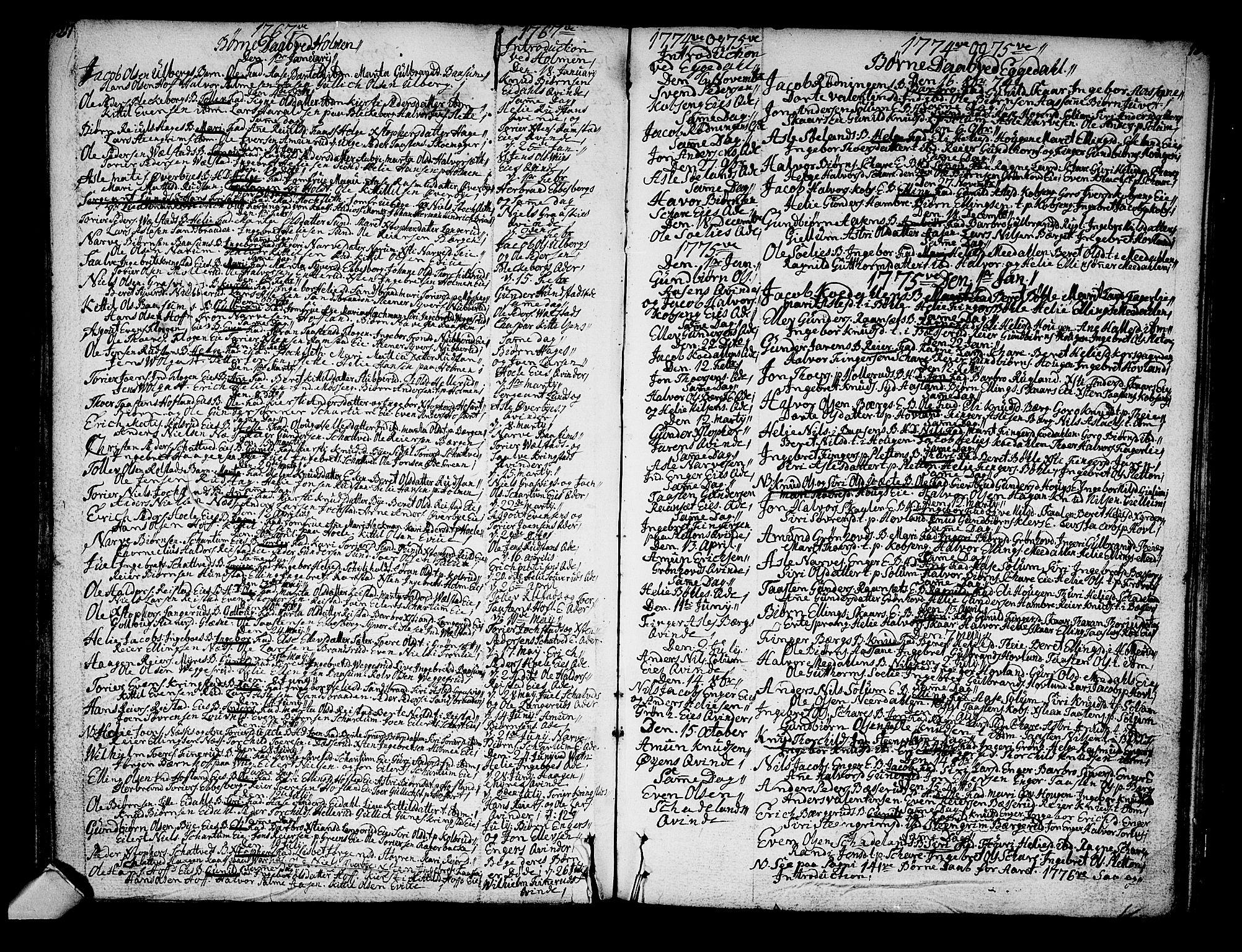 SAKO, Sigdal kirkebøker, F/Fa/L0001: Ministerialbok nr. I 1, 1722-1777, s. 127-128