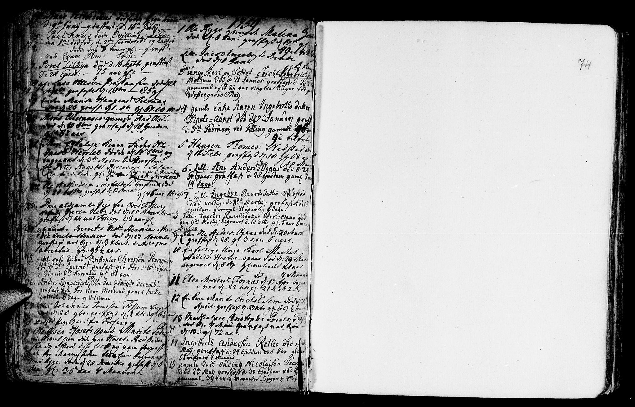 SAT, Ministerialprotokoller, klokkerbøker og fødselsregistre - Nord-Trøndelag, 746/L0439: Ministerialbok nr. 746A01, 1688-1759, s. 74