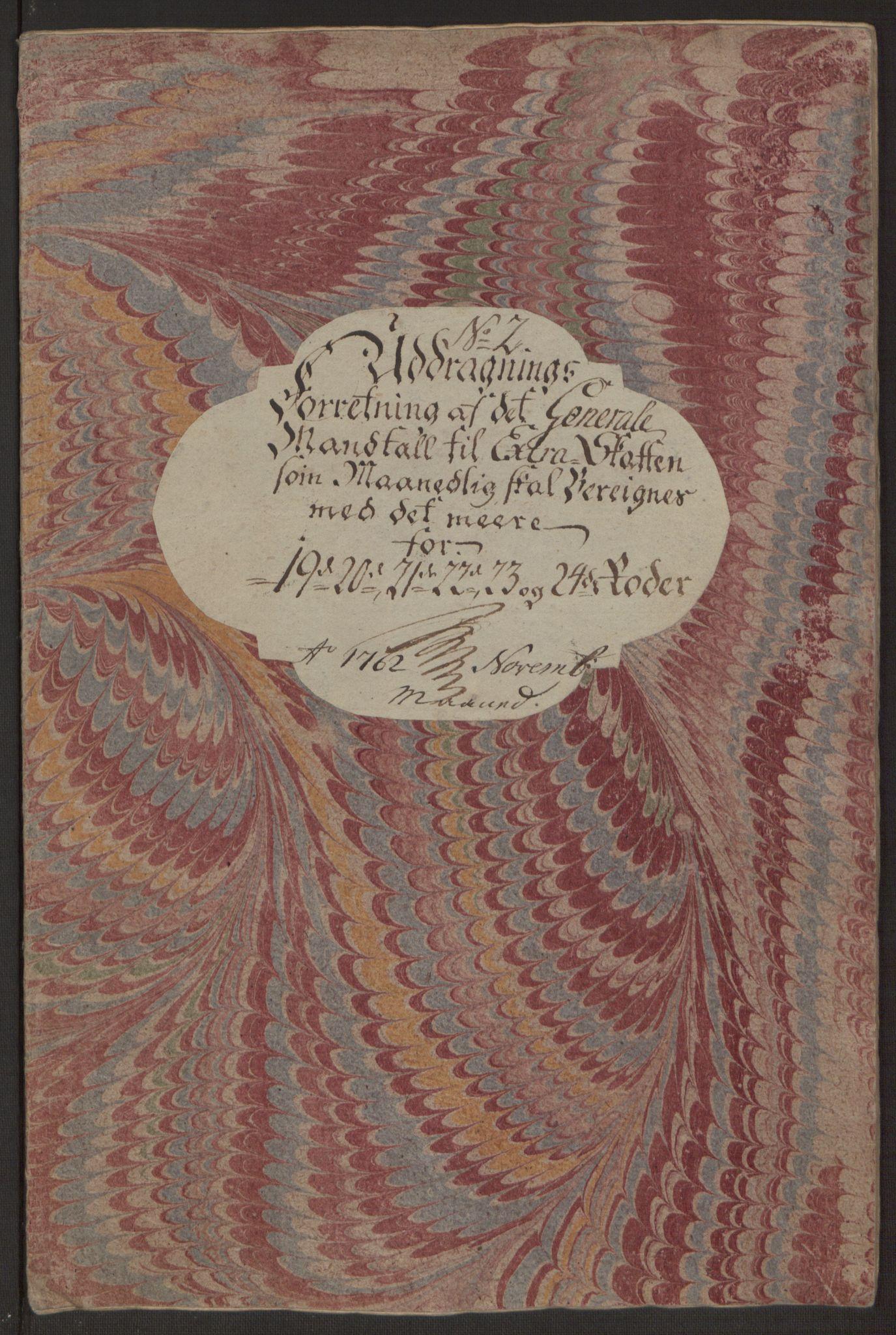 RA, Rentekammeret inntil 1814, Reviderte regnskaper, Byregnskaper, R/Rp/L0365: [P20] Kontribusjonsregnskap, 1762, s. 226