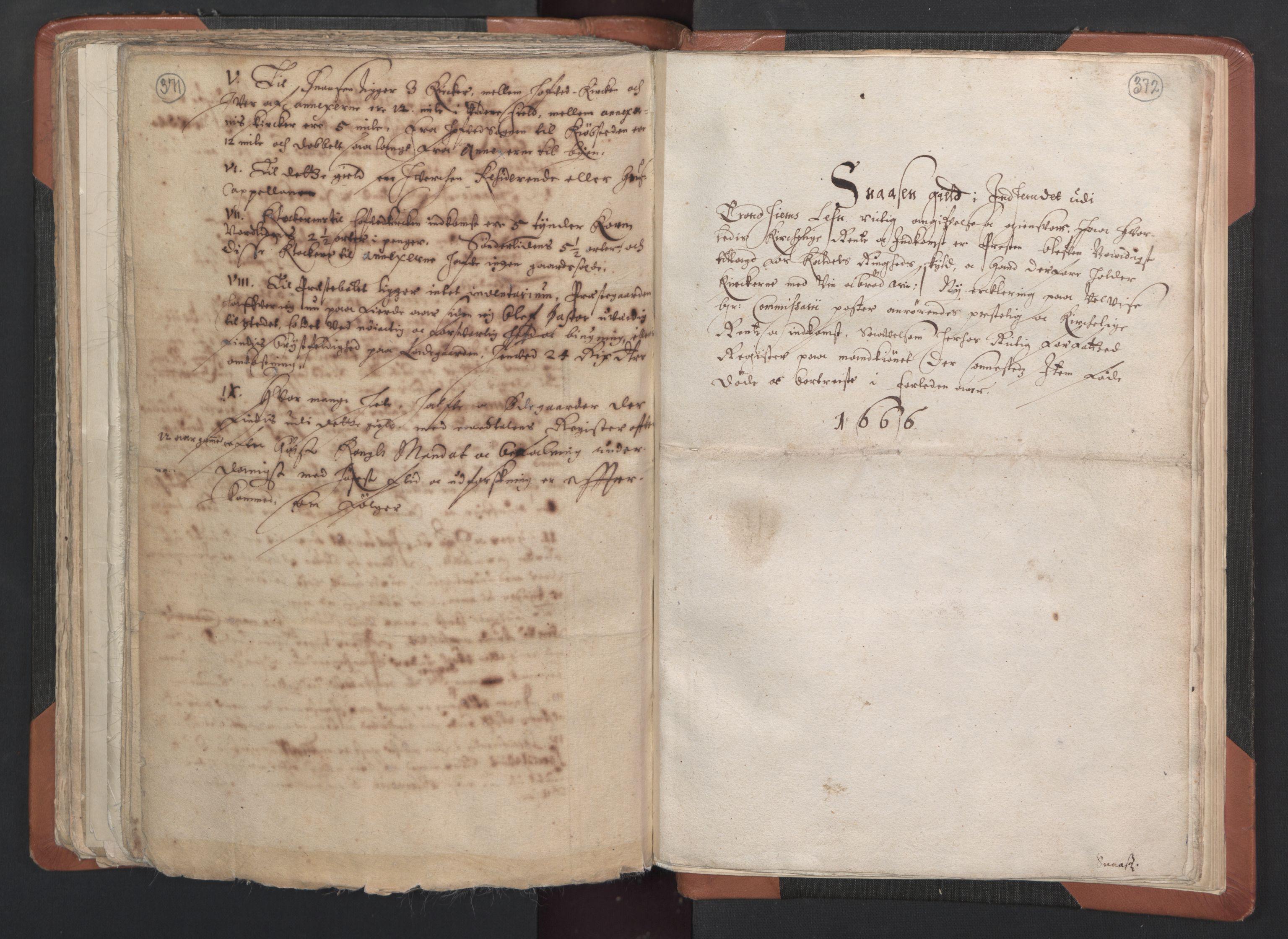 RA, Sogneprestenes manntall 1664-1666, nr. 33: Innherad prosti, 1664-1666, s. 371-372
