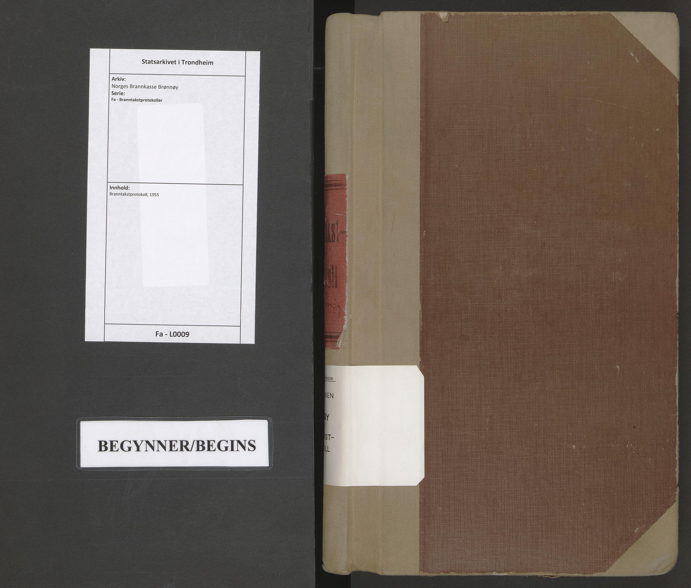 SAT, Norges Brannkasse Brønnøy, Fa/L0009: Branntakstprotokoll, 1955