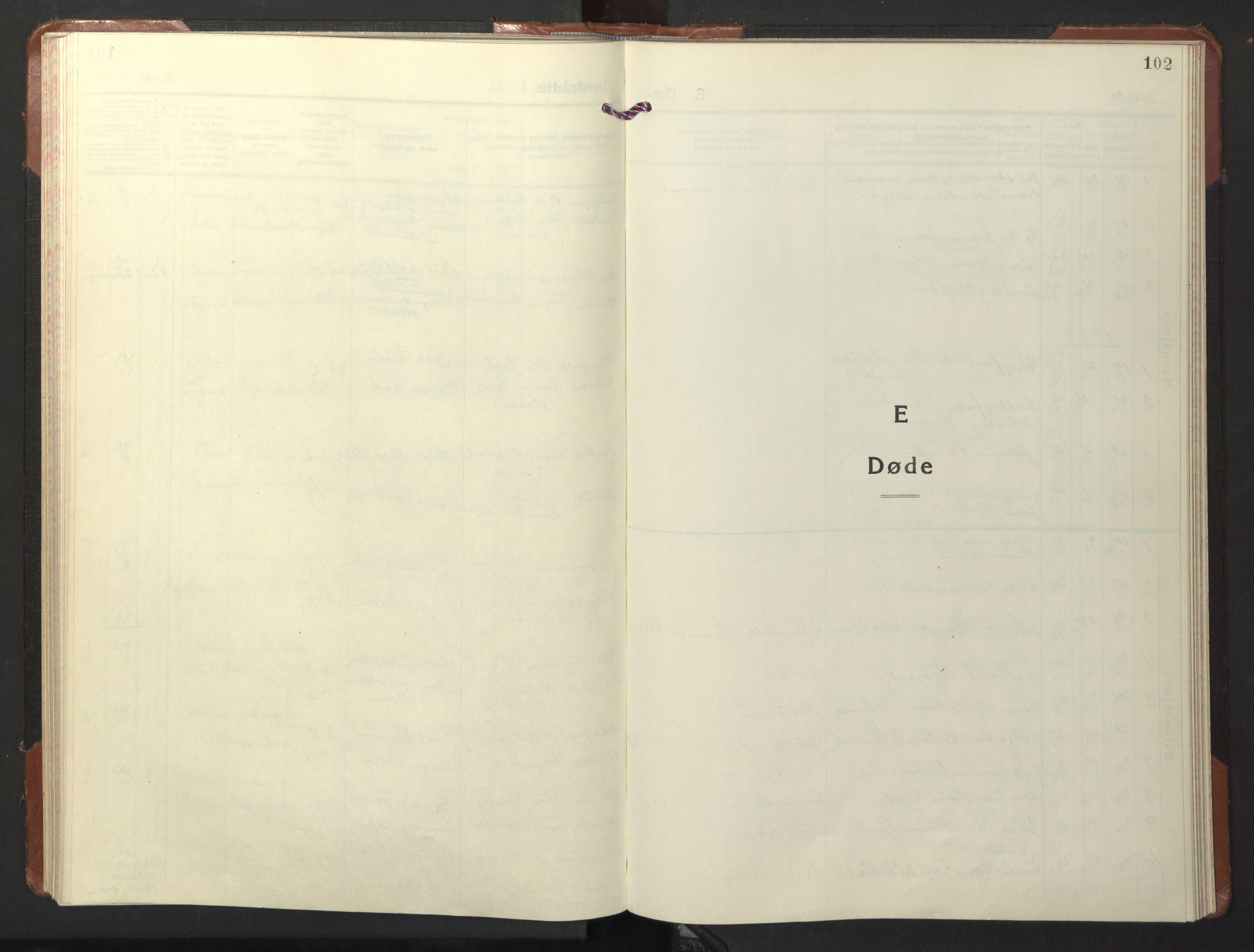 SAT, Ministerialprotokoller, klokkerbøker og fødselsregistre - Nord-Trøndelag, 722/L0227: Klokkerbok nr. 722C03, 1928-1958, s. 102