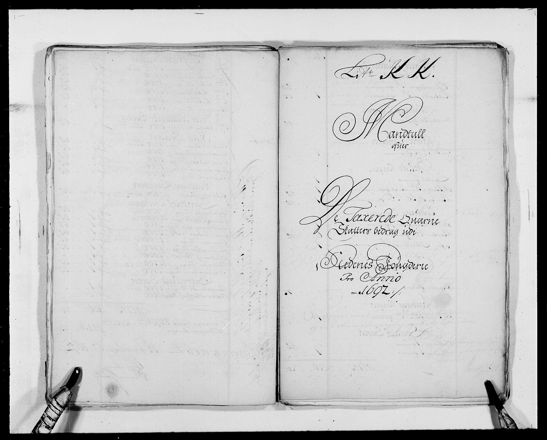 RA, Rentekammeret inntil 1814, Reviderte regnskaper, Fogderegnskap, R39/L2311: Fogderegnskap Nedenes, 1690-1692, s. 228