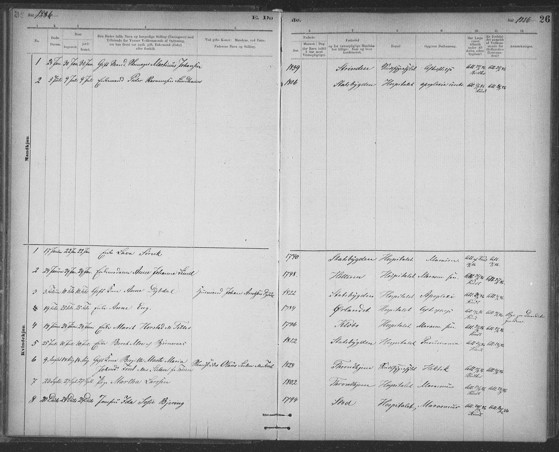 SAT, Ministerialprotokoller, klokkerbøker og fødselsregistre - Sør-Trøndelag, 623/L0470: Ministerialbok nr. 623A04, 1884-1938, s. 26