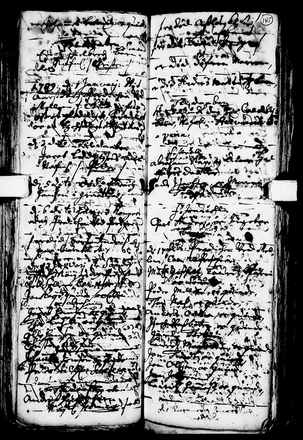SAKO, Solum kirkebøker, F/Fa/L0001: Ministerialbok nr. I 1, 1701-1716, s. 145