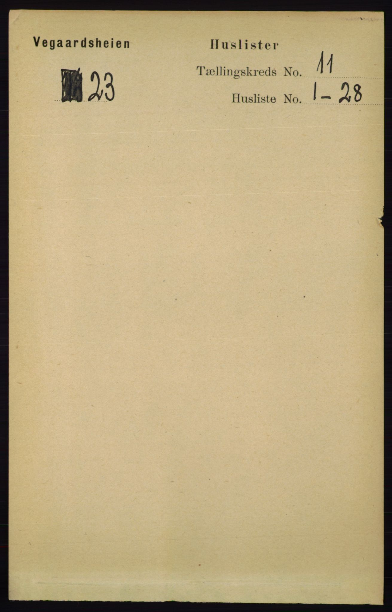RA, Folketelling 1891 for 0912 Vegårshei herred, 1891, s. 2159