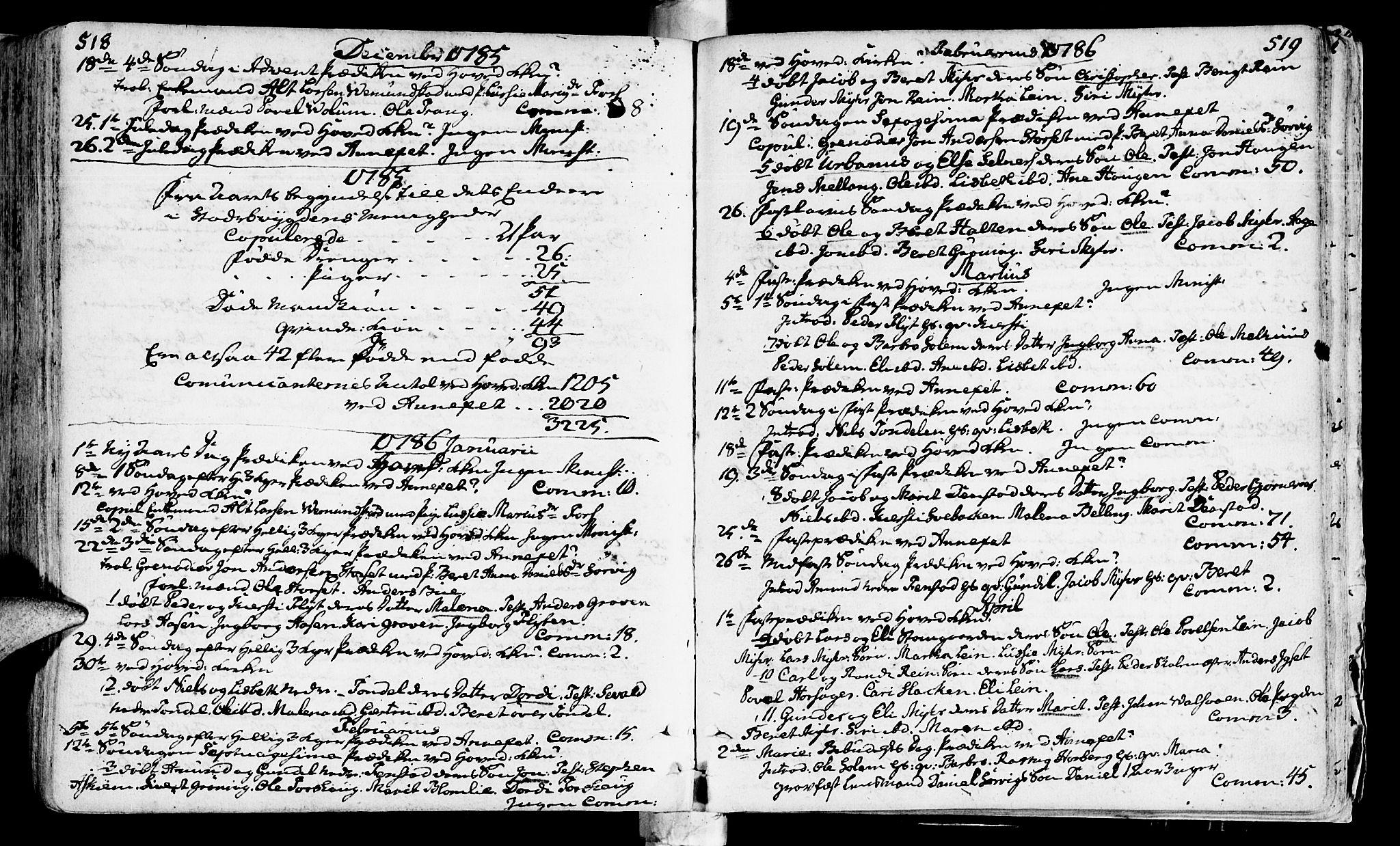 SAT, Ministerialprotokoller, klokkerbøker og fødselsregistre - Sør-Trøndelag, 646/L0605: Ministerialbok nr. 646A03, 1751-1790, s. 518-519
