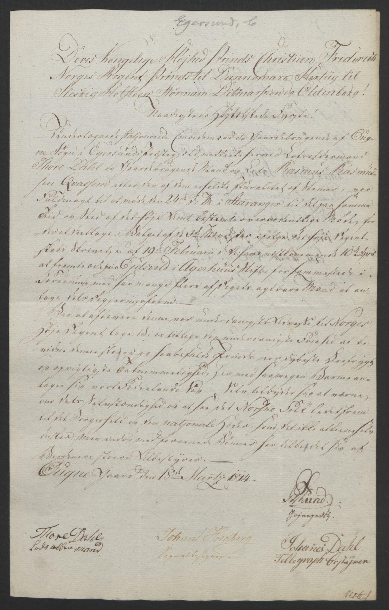 RA, Statsrådssekretariatet, D/Db/L0008: Fullmakter for Eidsvollsrepresentantene i 1814. , 1814, s. 212