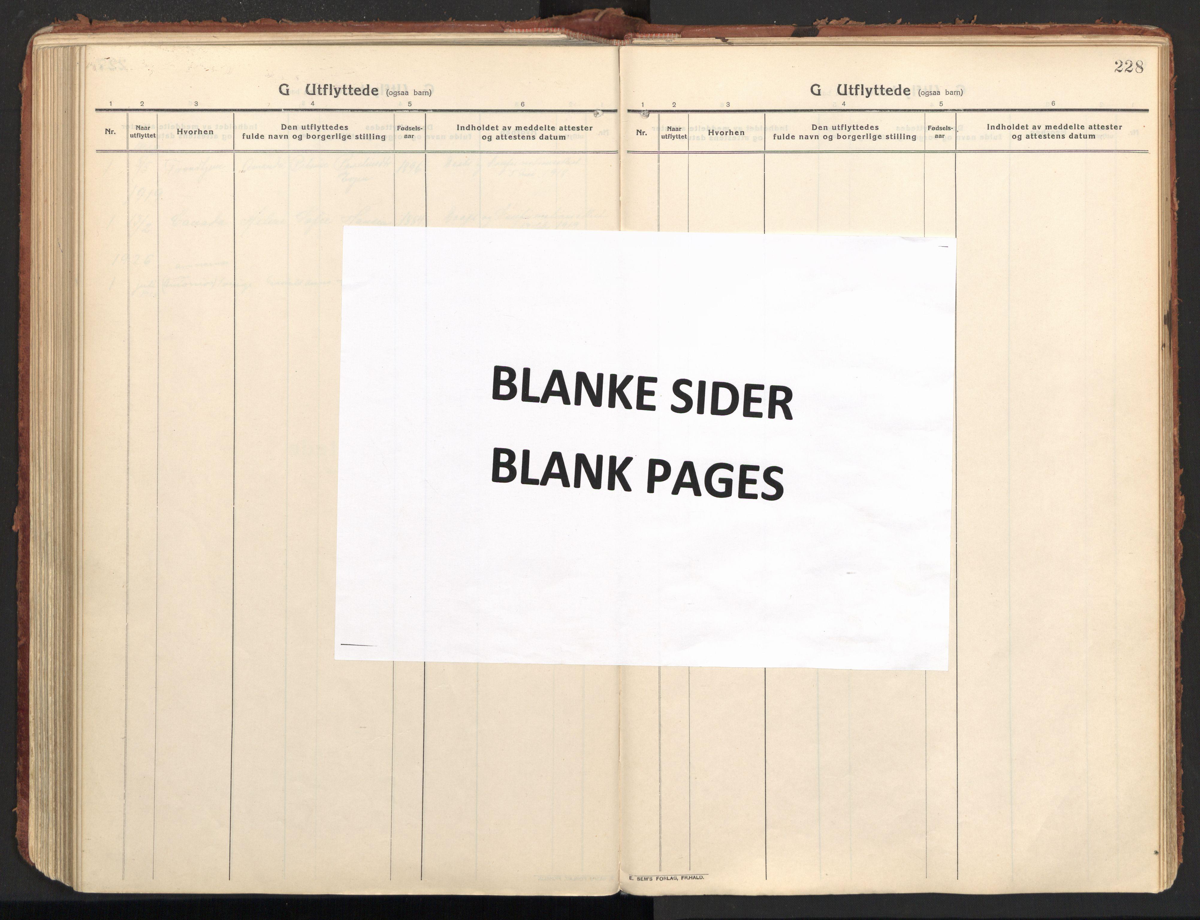 SAT, Ministerialprotokoller, klokkerbøker og fødselsregistre - Nordland, 846/L0650: Ministerialbok nr. 846A08, 1916-1935, s. 228