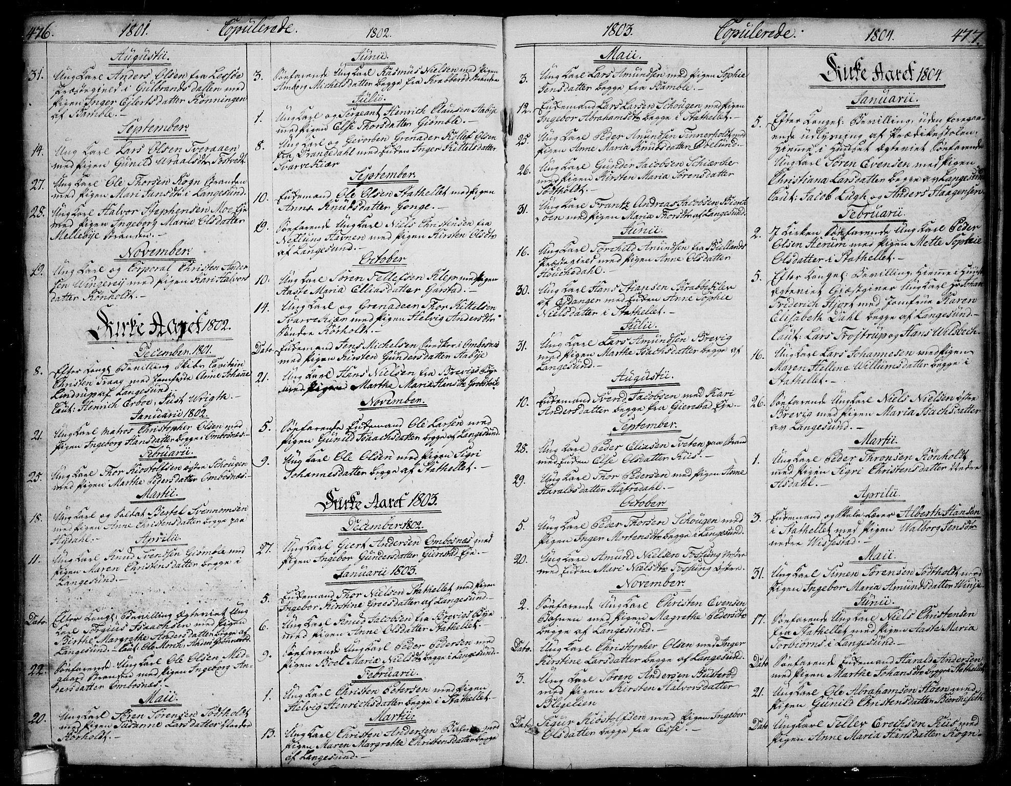 SAKO, Bamble kirkebøker, F/Fa/L0002: Ministerialbok nr. I 2, 1775-1814, s. 476-477