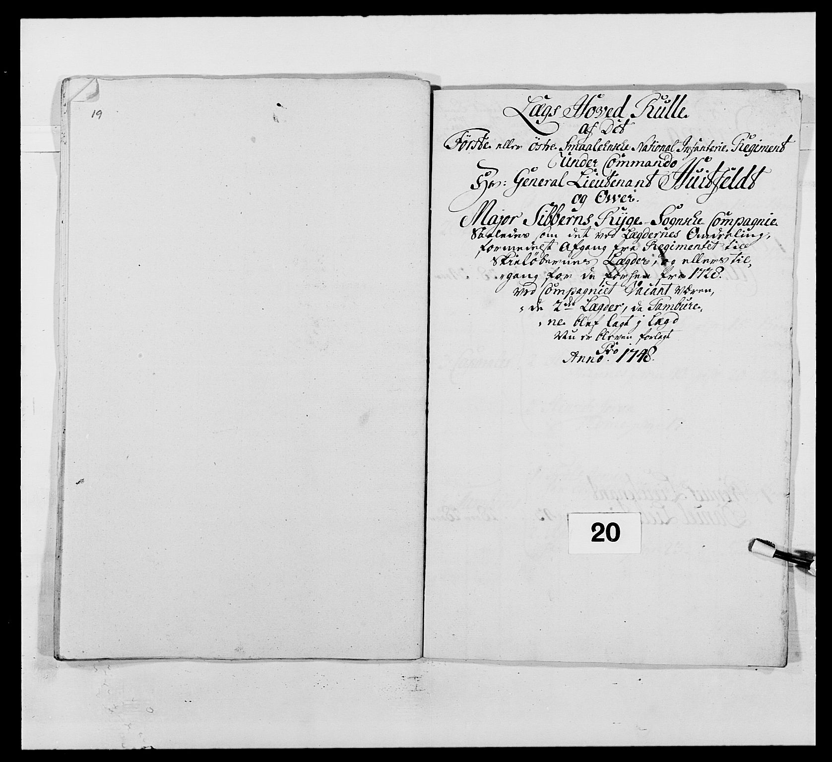 RA, Kommanderende general (KG I) med Det norske krigsdirektorium, E/Ea/L0495: 1. Smålenske regiment, 1732-1763, s. 268